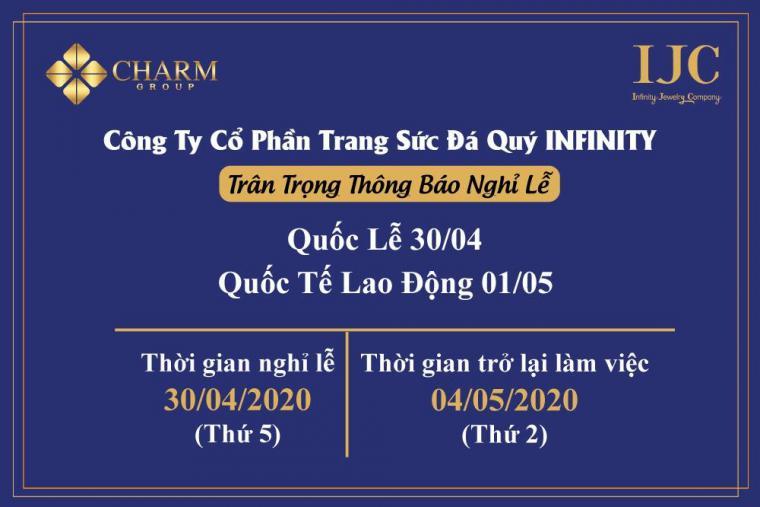 IJC THÔNG BÁO LỊCH NGHỈ LỄ 30/04 VÀ 01/05 NĂM 2020