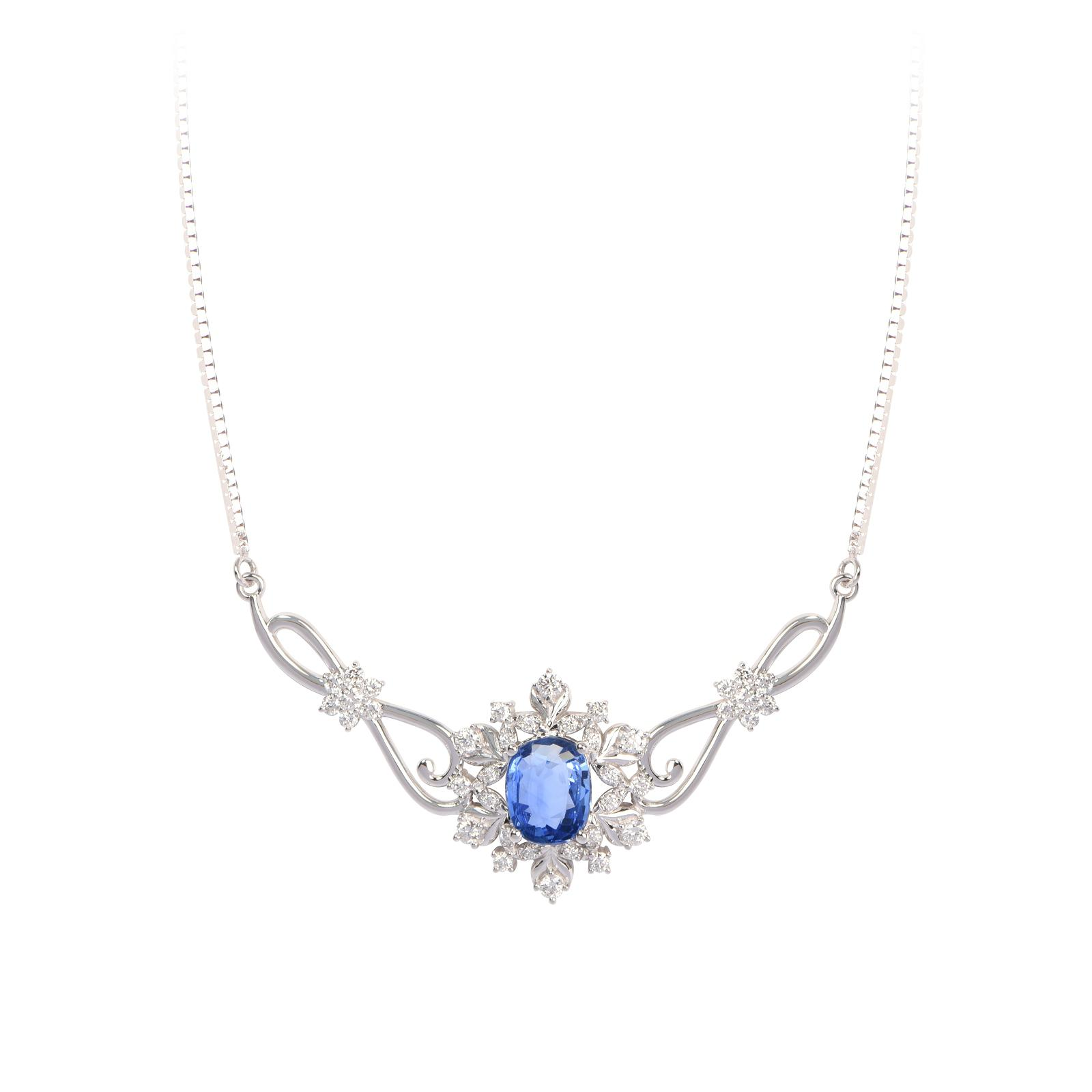 Dây chuyền đá Sapphire 20M063.2TI