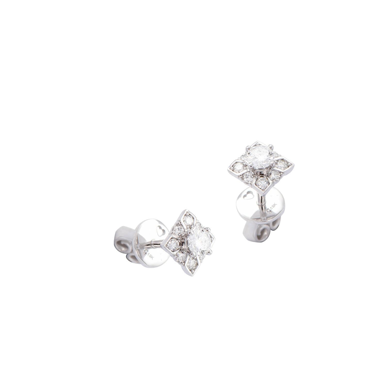 Bông tai đá Kim cương 20B176.1TH