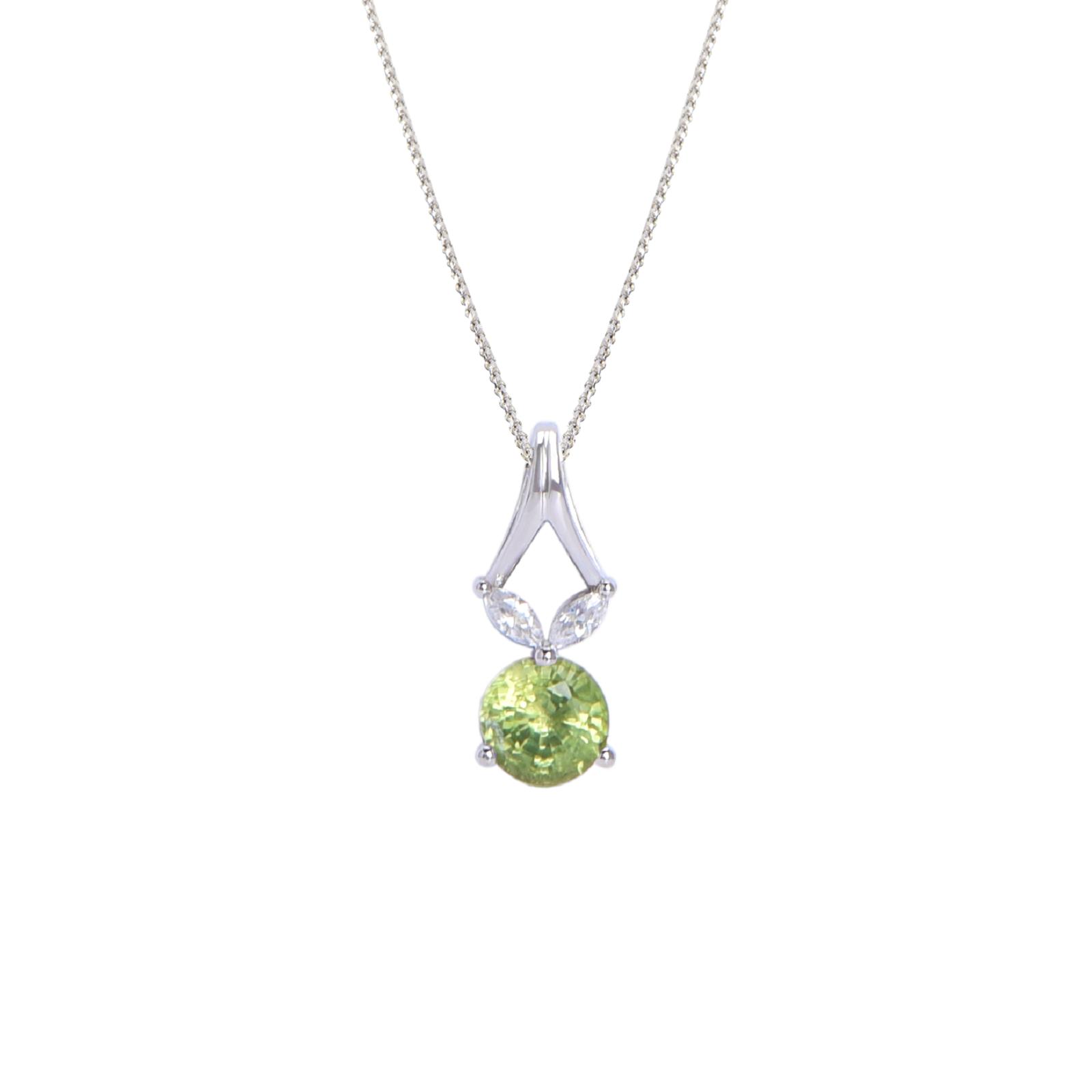 Mặt dây đá Peridot 21M013