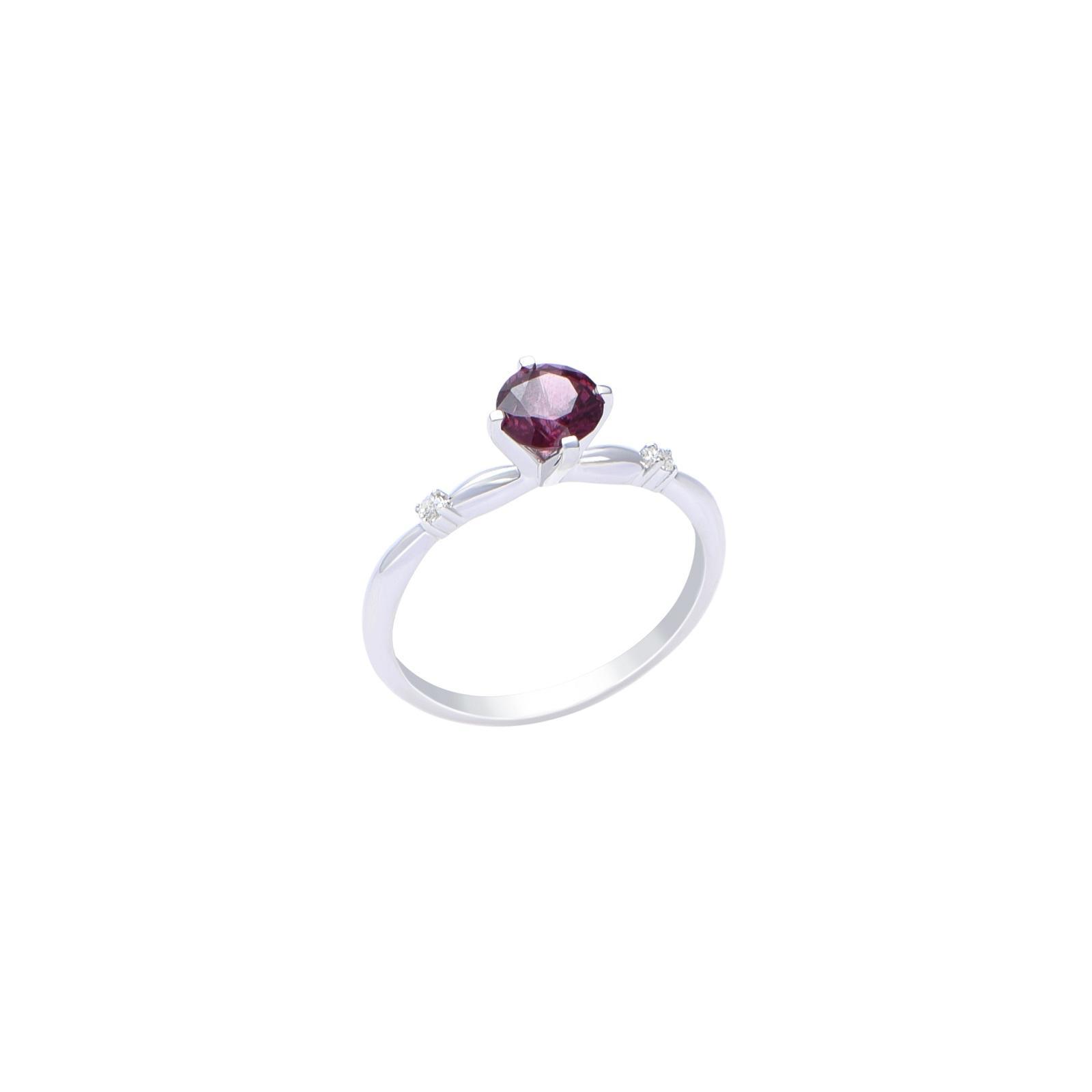 Nhẫn đá Garnet 21N025