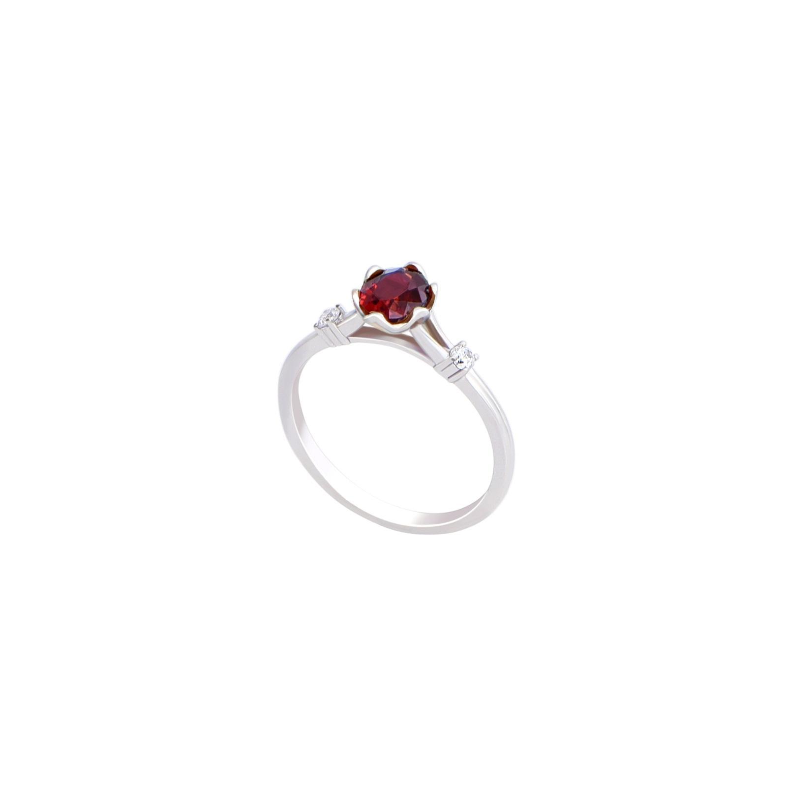 Nhẫn đá Garnet 21N037