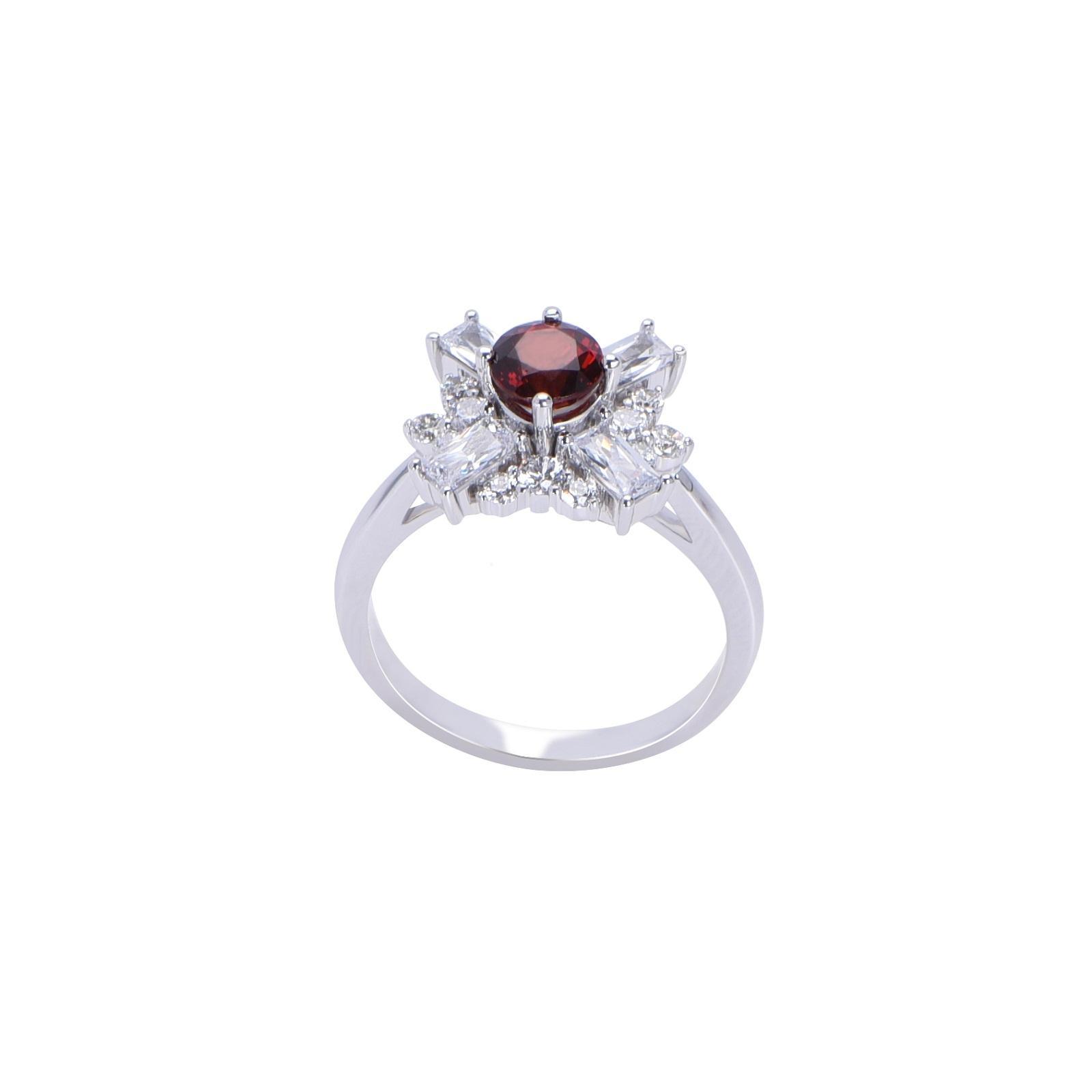 Nhẫn đá Garnet 21N078