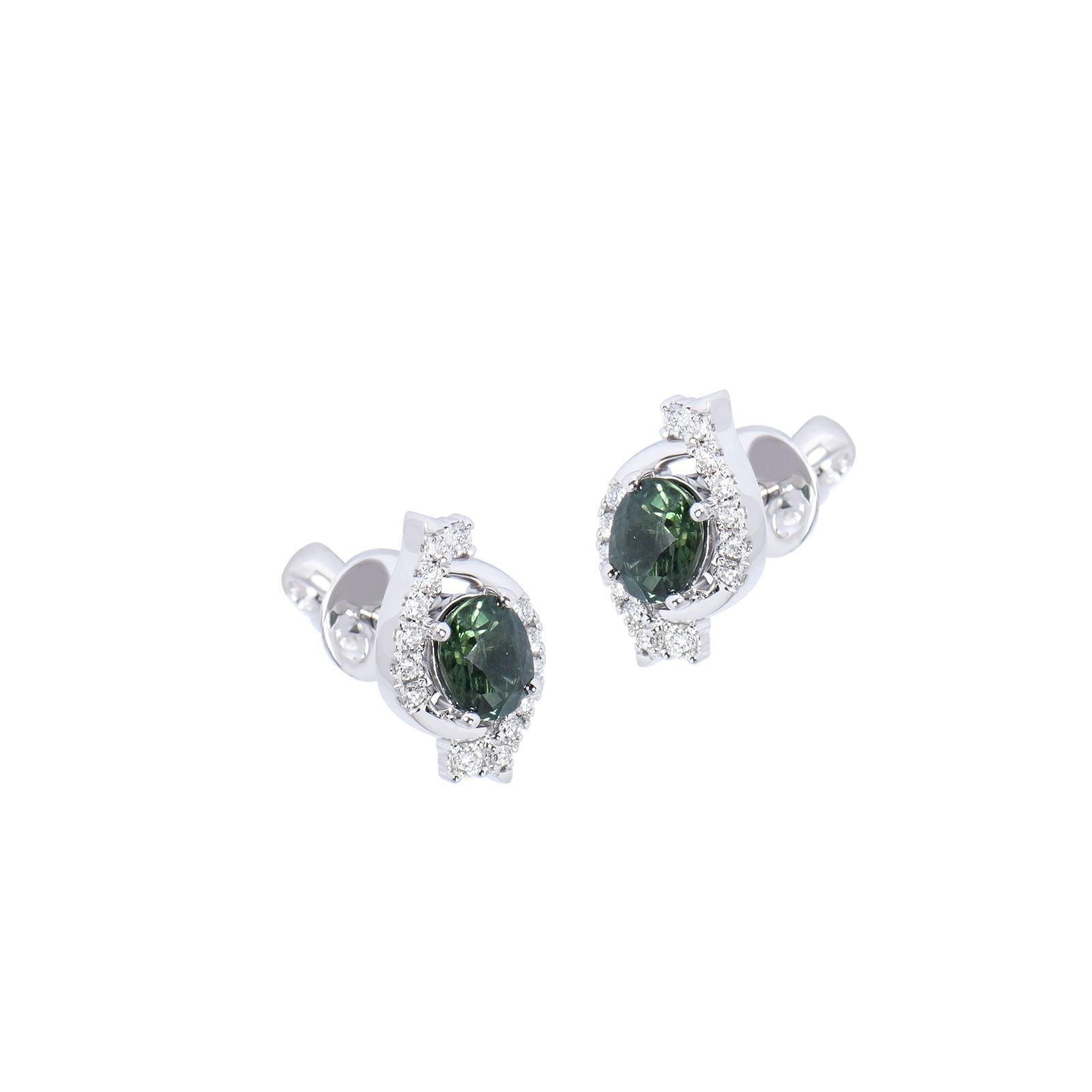 Bông tai đá Sapphire 20B059.5TH