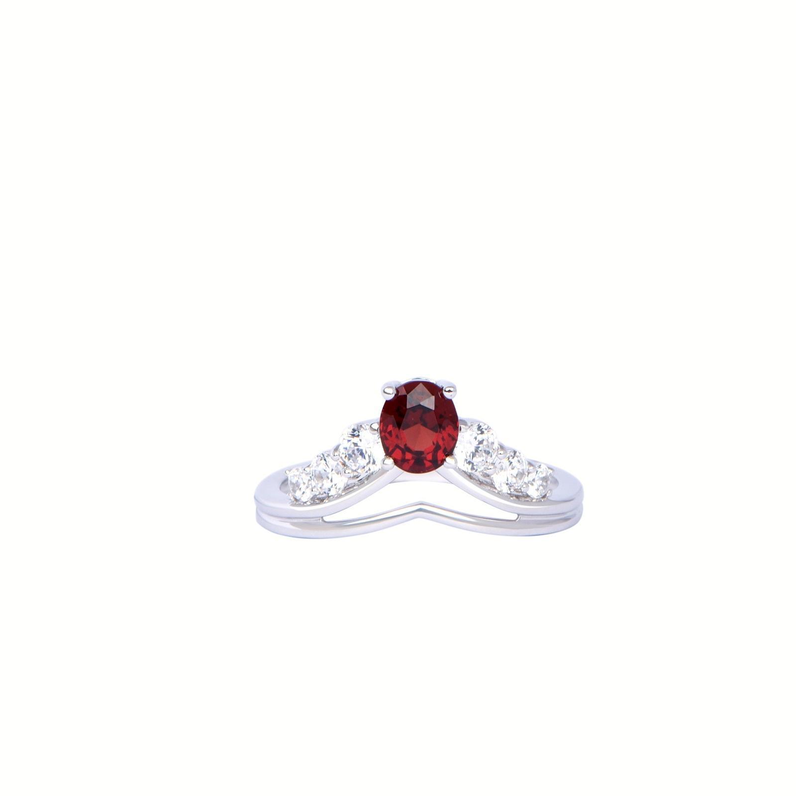 Nhẫn đá Garnet 21N001