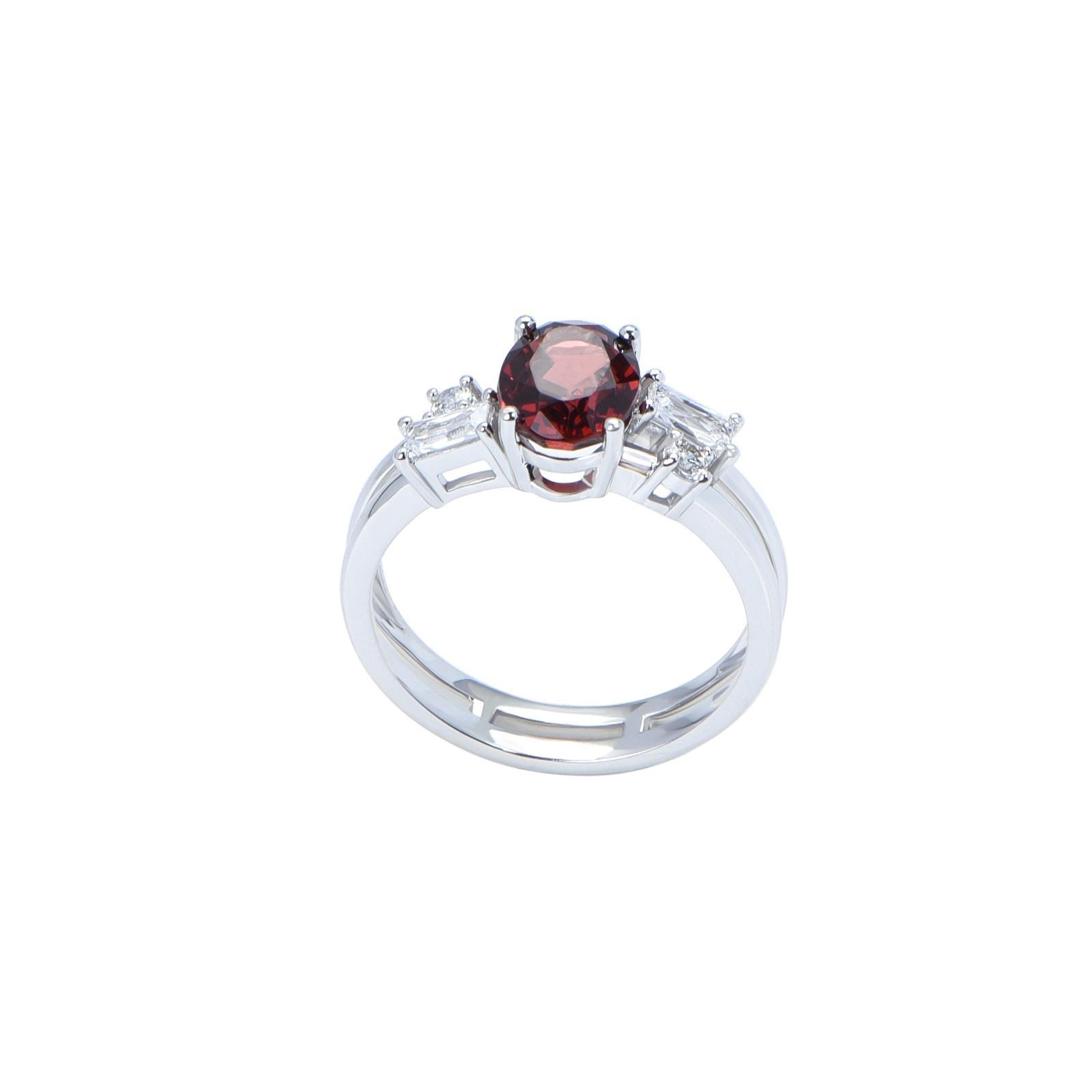 Nhẫn đá Garnet 21N079