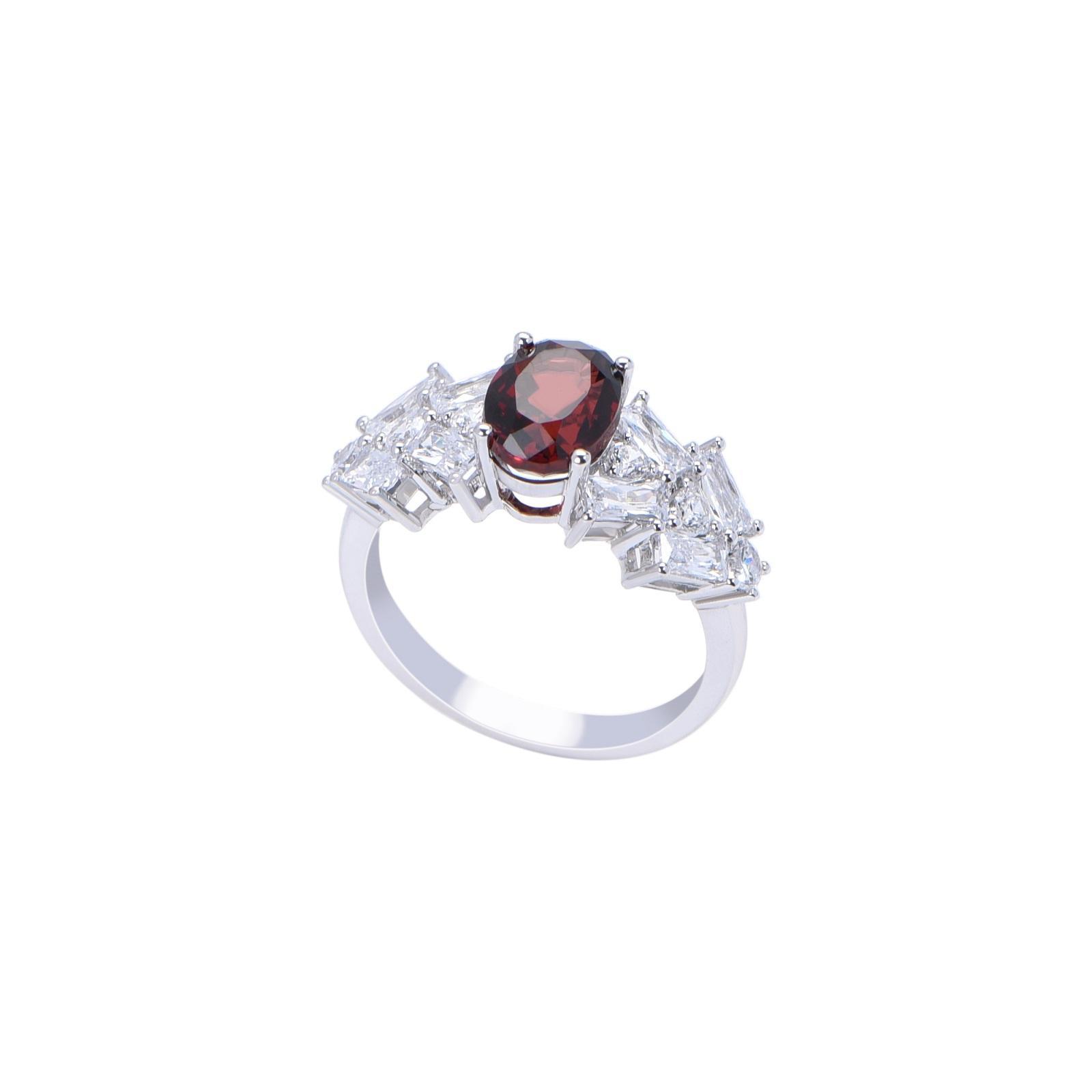 Nhẫn đá Garnet 21N087