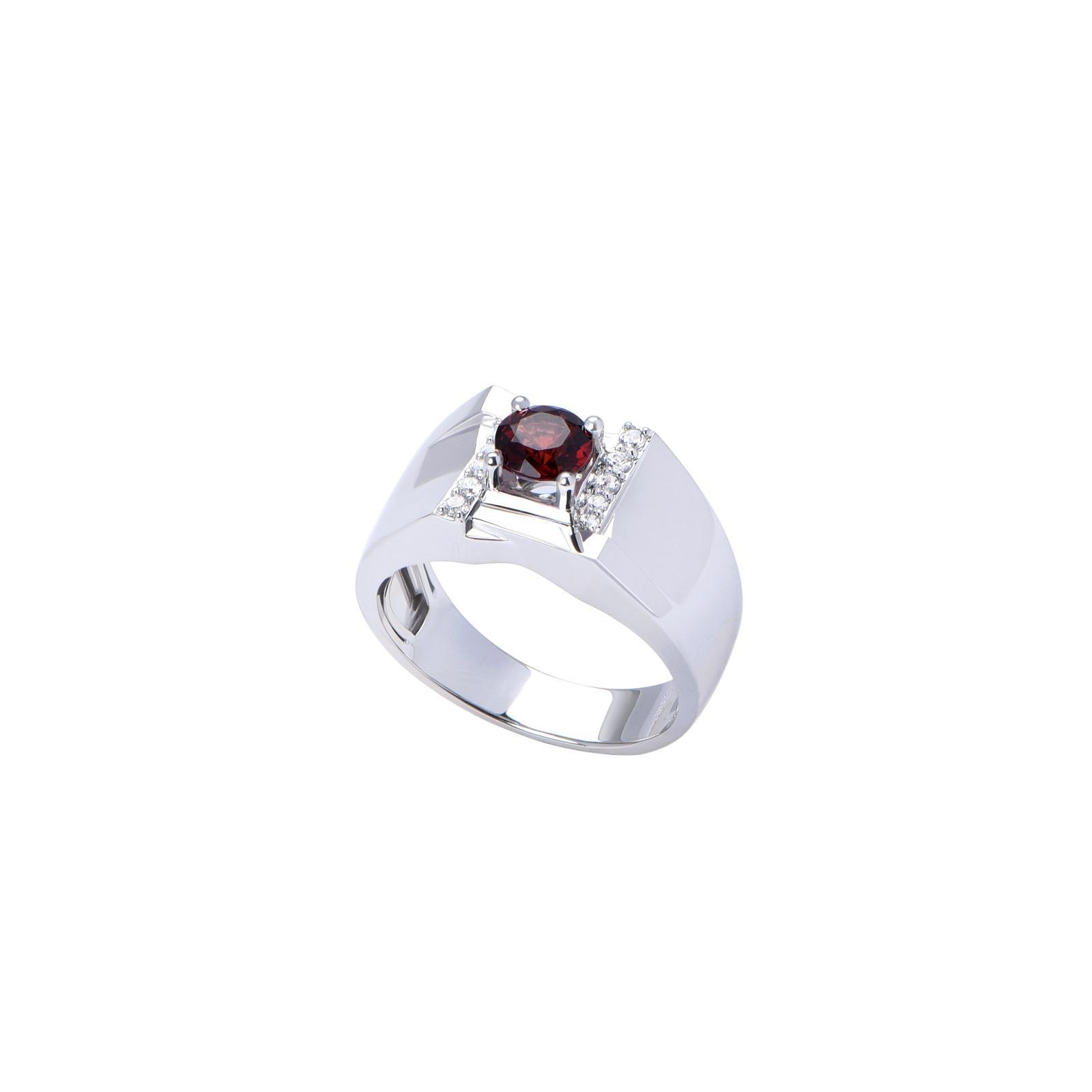 Nhẫn nam đá Garnet 21NN001