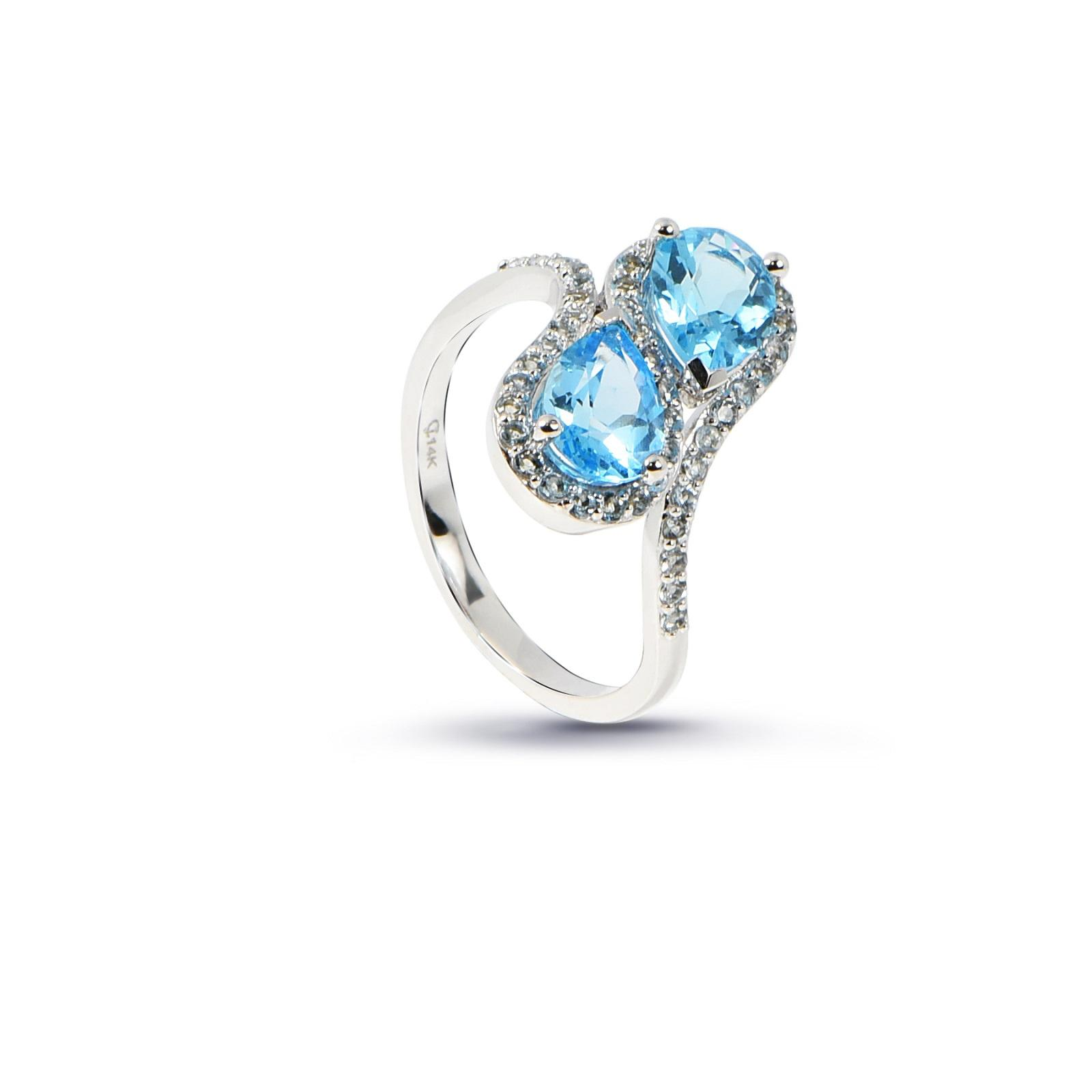 Nhẫn đá Aquamarine QR0079.C56