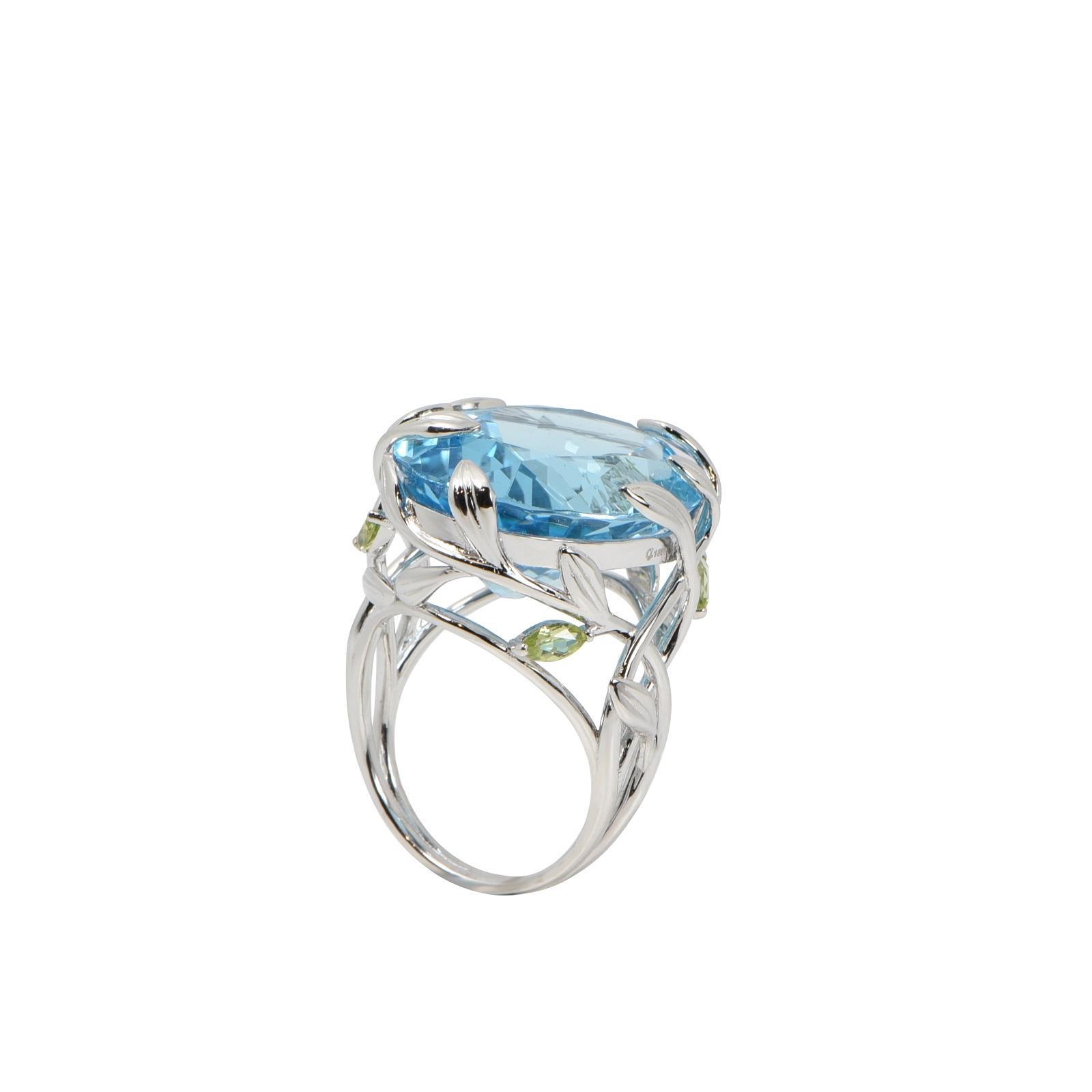 Nhẫn đá Aquamarine QR0181.C107