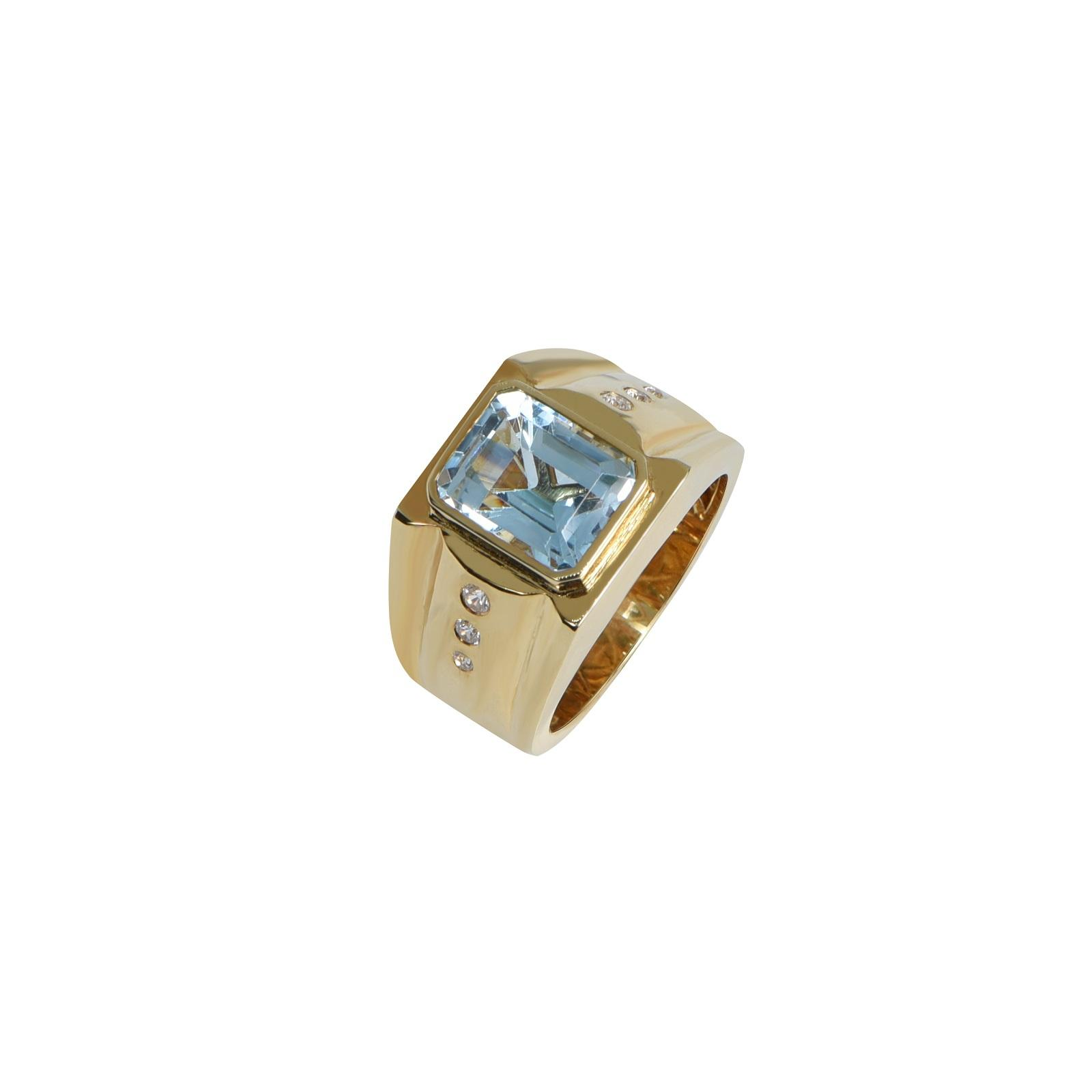 Nhẫn nam đá Aquamarine KR0008