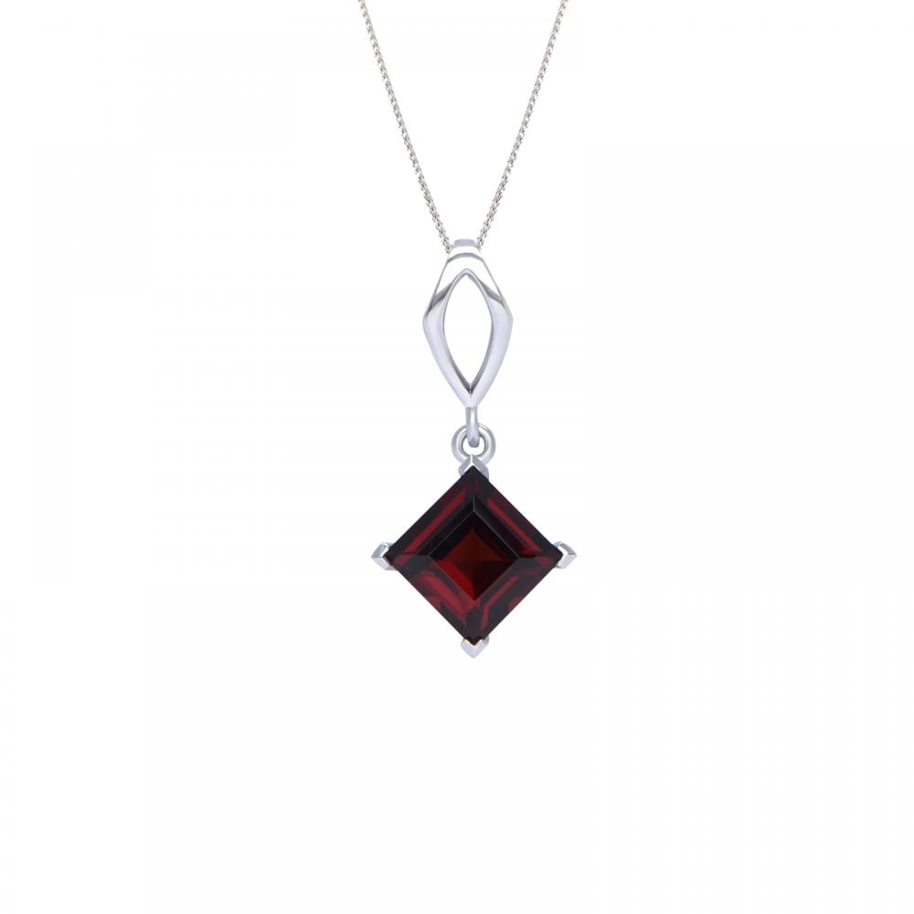 Mặt dây đá Garnet 21M044