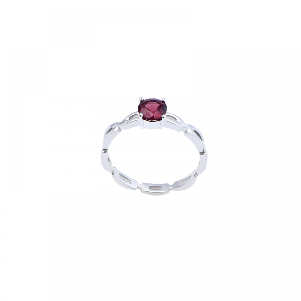 Nhẫn đá Garnet 21N066