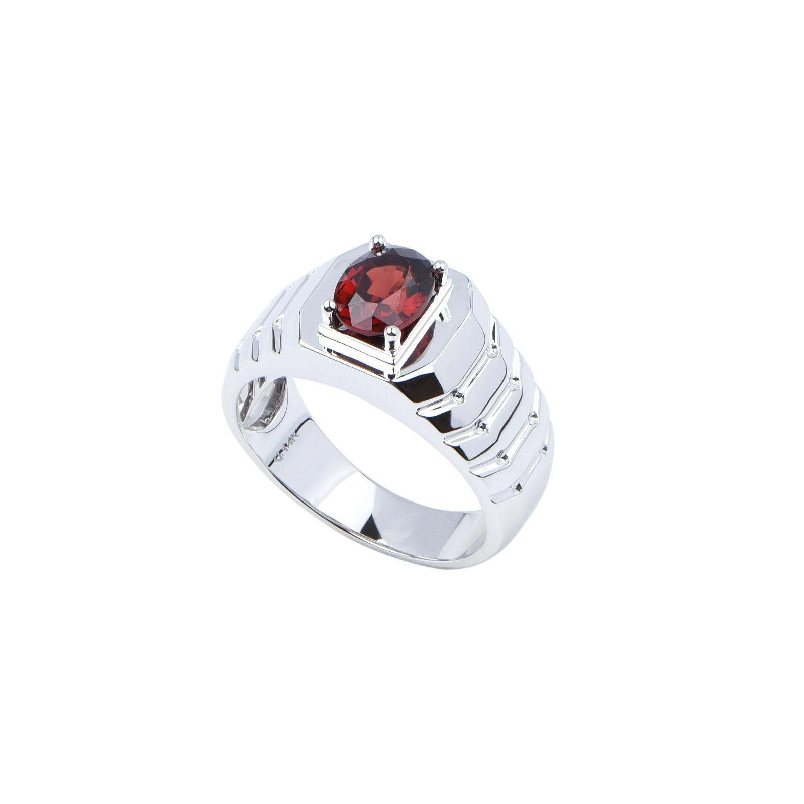 Nhẫn nam đá Garnet 21NN029