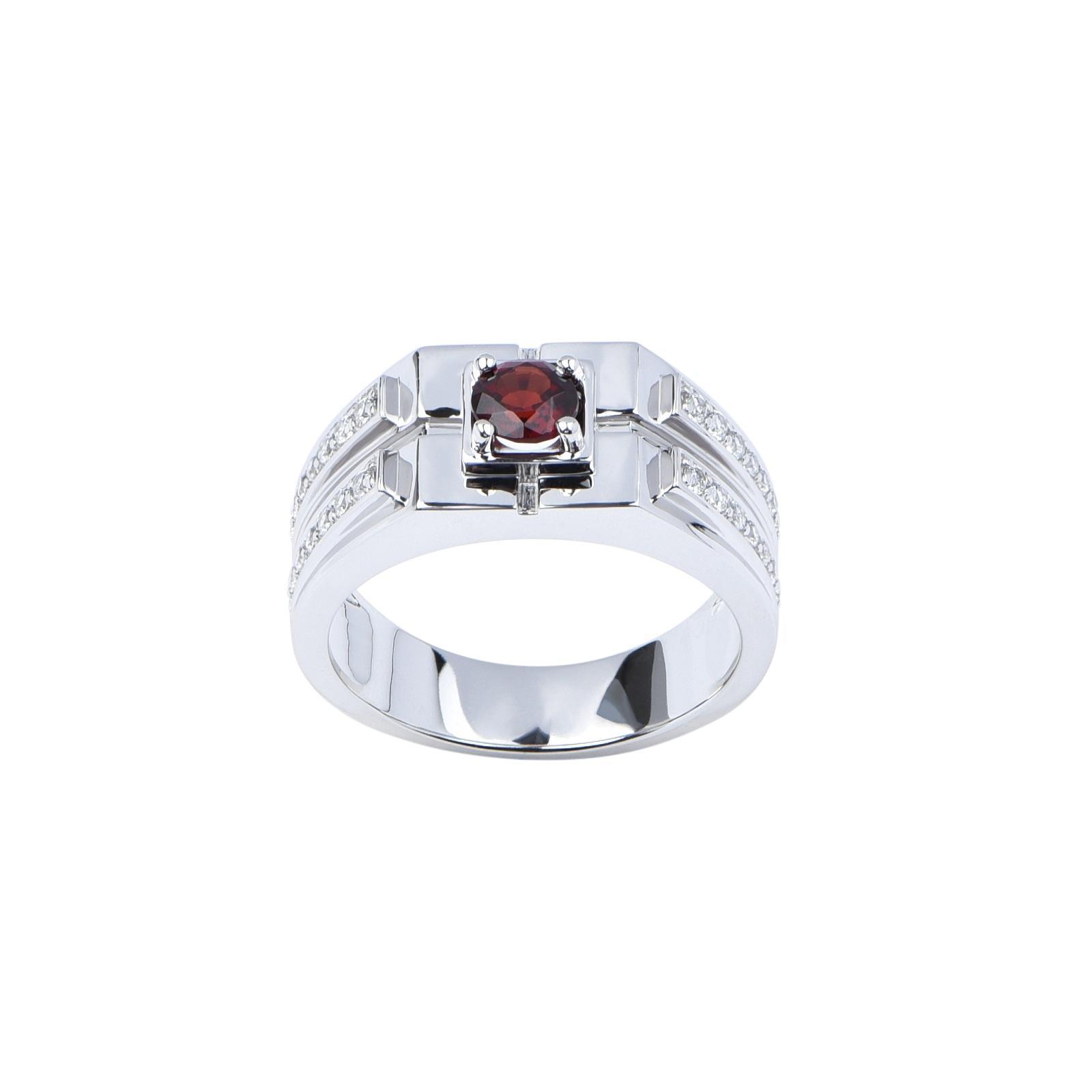 Nhẫn nam đá Garnet 21NN053