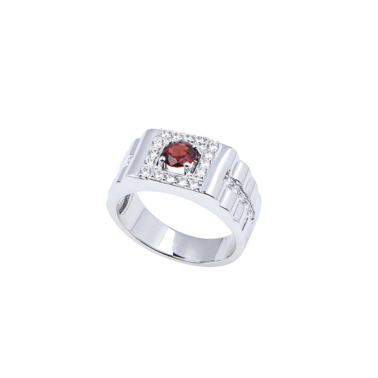 Nhẫn nam đá Garnet 21NN055