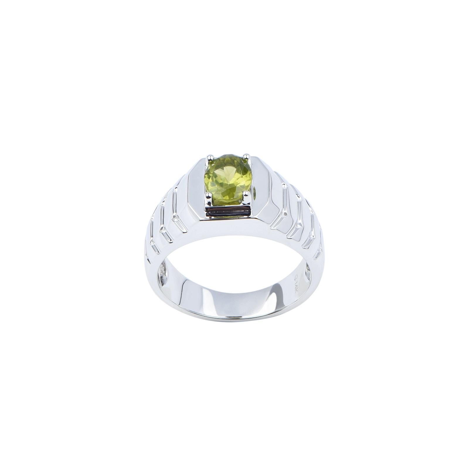 Nhẫn nam đá Peridot 21NN029
