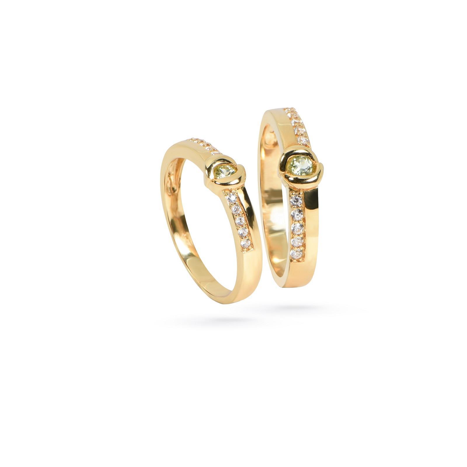 Nhẫn cưới nữ đá Peridot QR0199.C121