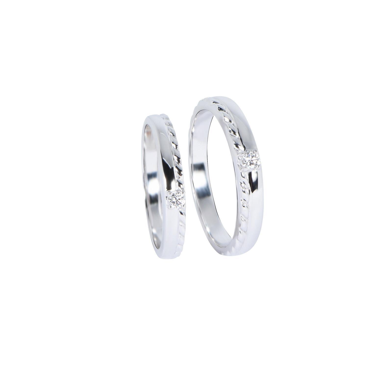 Nhẫn cưới Kim cương nữ 20QR008.2TI