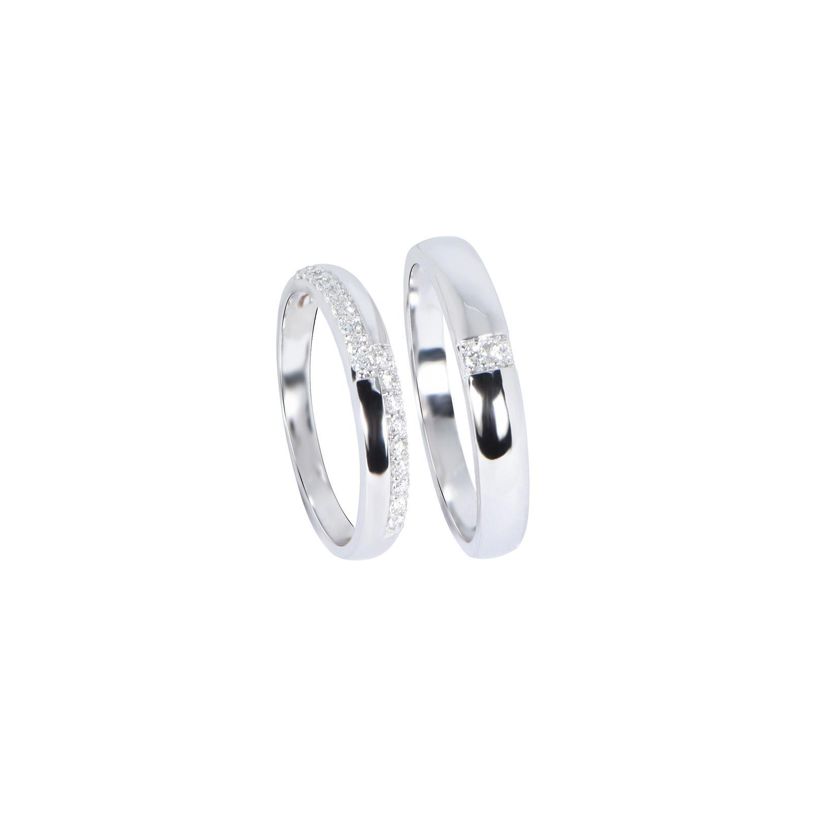 Nhẫn cưới Kim cương nữ 20QR016.6TY