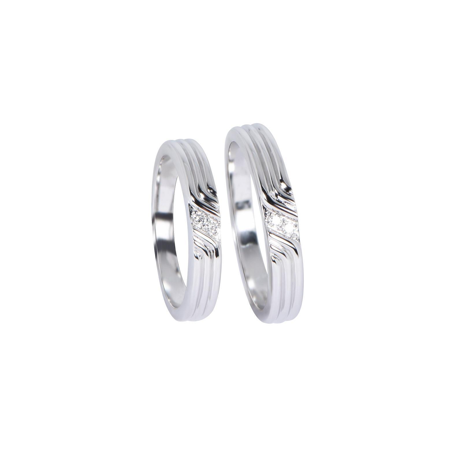 Nhẫn cưới Kim cương nữ 20QR018.2TI