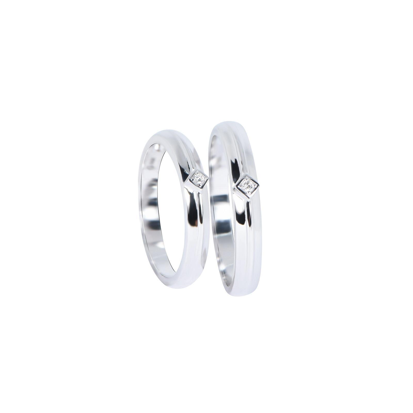 Nhẫn cưới Kim cương nữ 20QR020.2TI