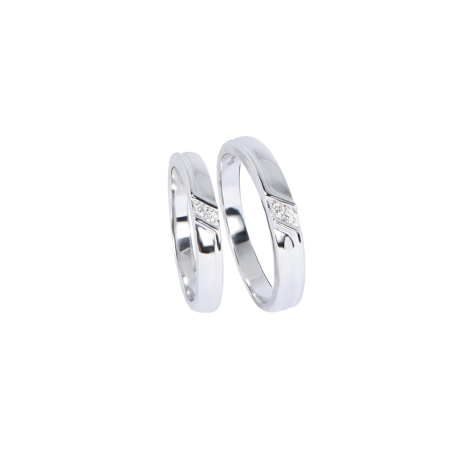Nhẫn cưới Kim cương nữ 20QR023.2TI