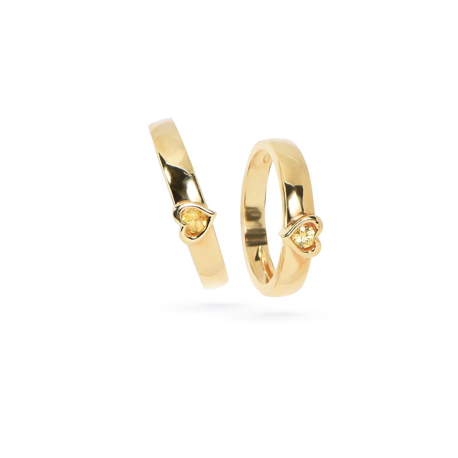 Nhẫn cưới nữ đá Citrine QR0191.C113