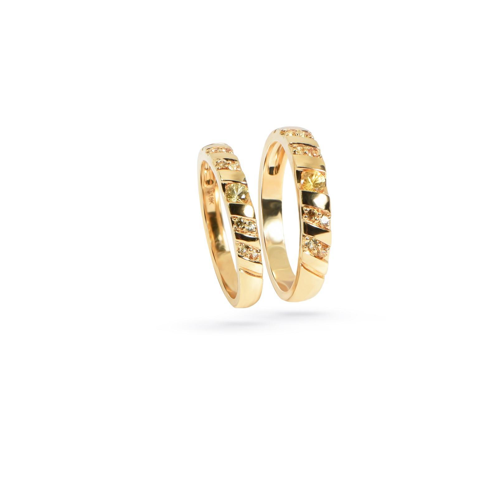 Nhẫn cưới nữ đá Citrine QR0198.C120