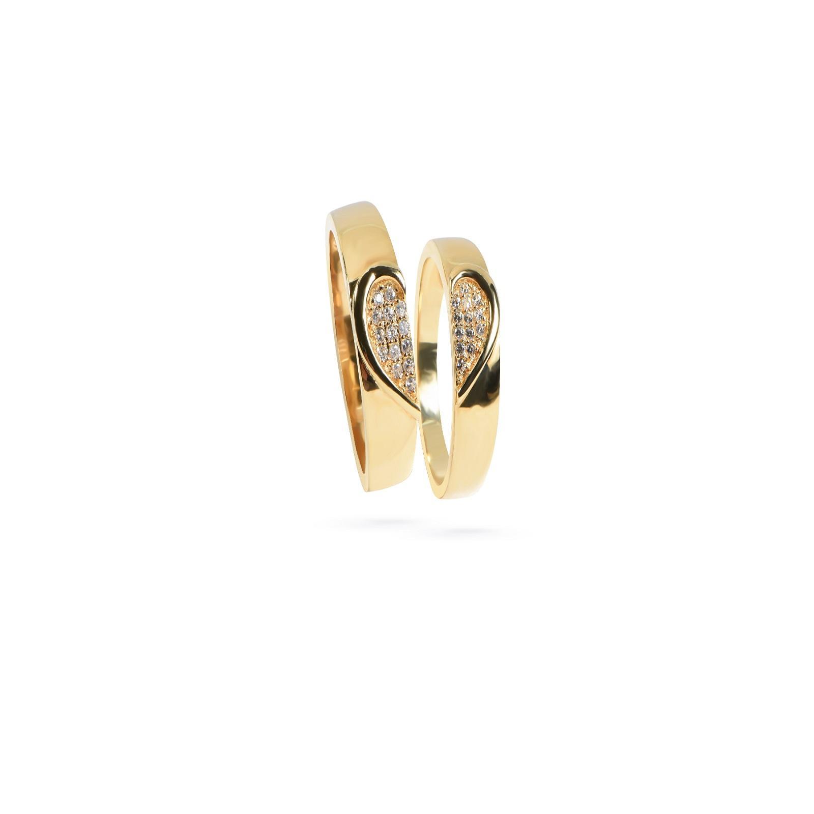 Nhẫn cưới nữ đá ECZ QR0187.C111