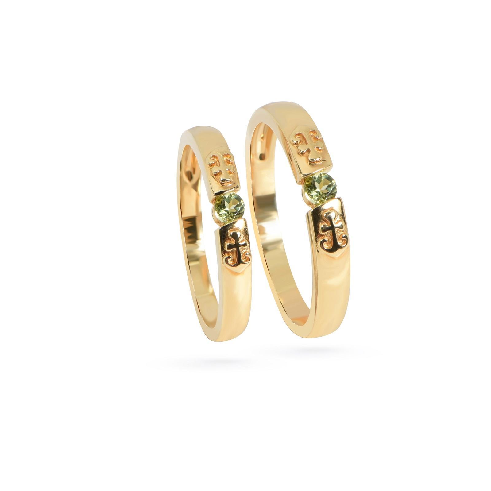 Nhẫn cưới nữ đá Peridot QR0202.C123