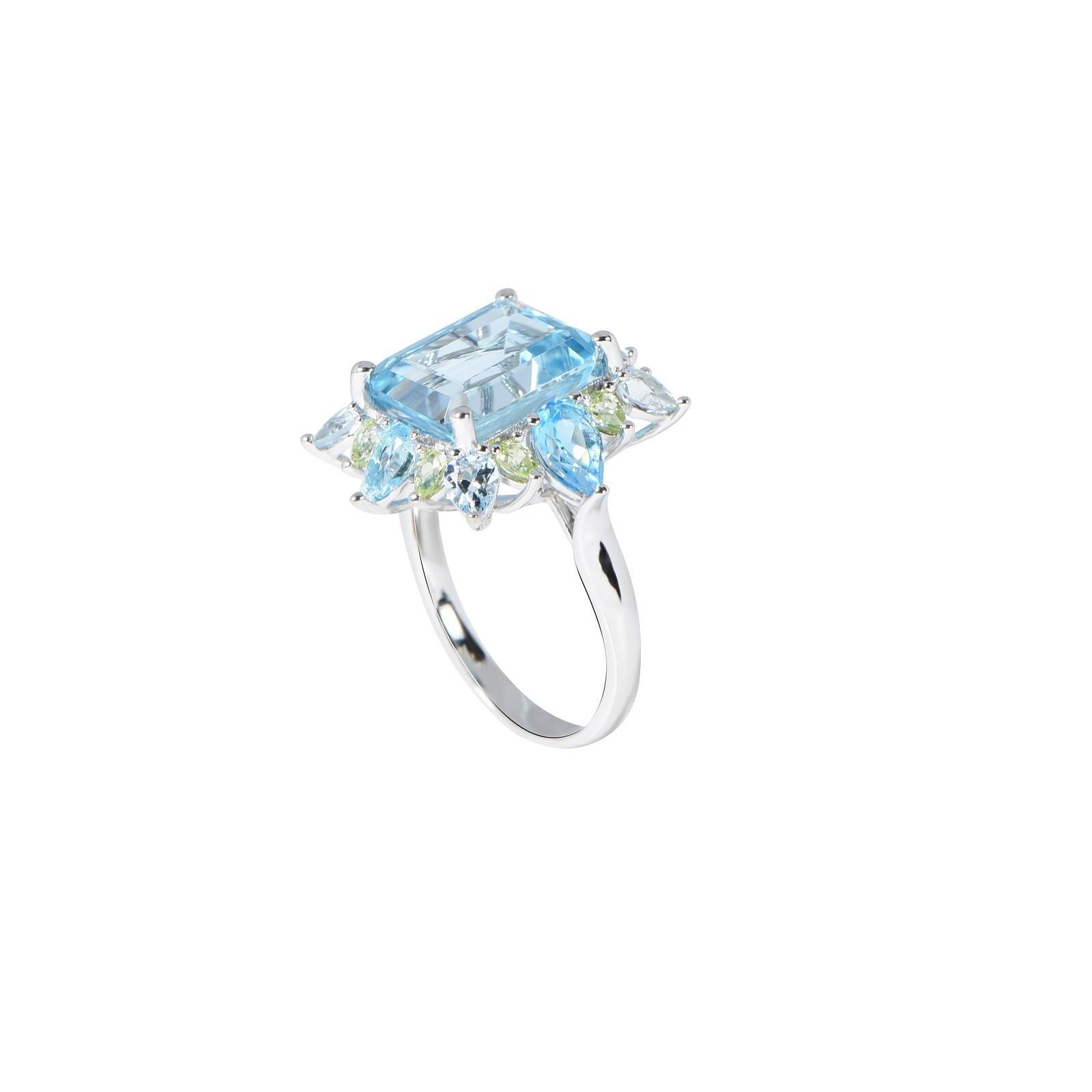 Nhẫn đá Aquamarine QR0173.C104