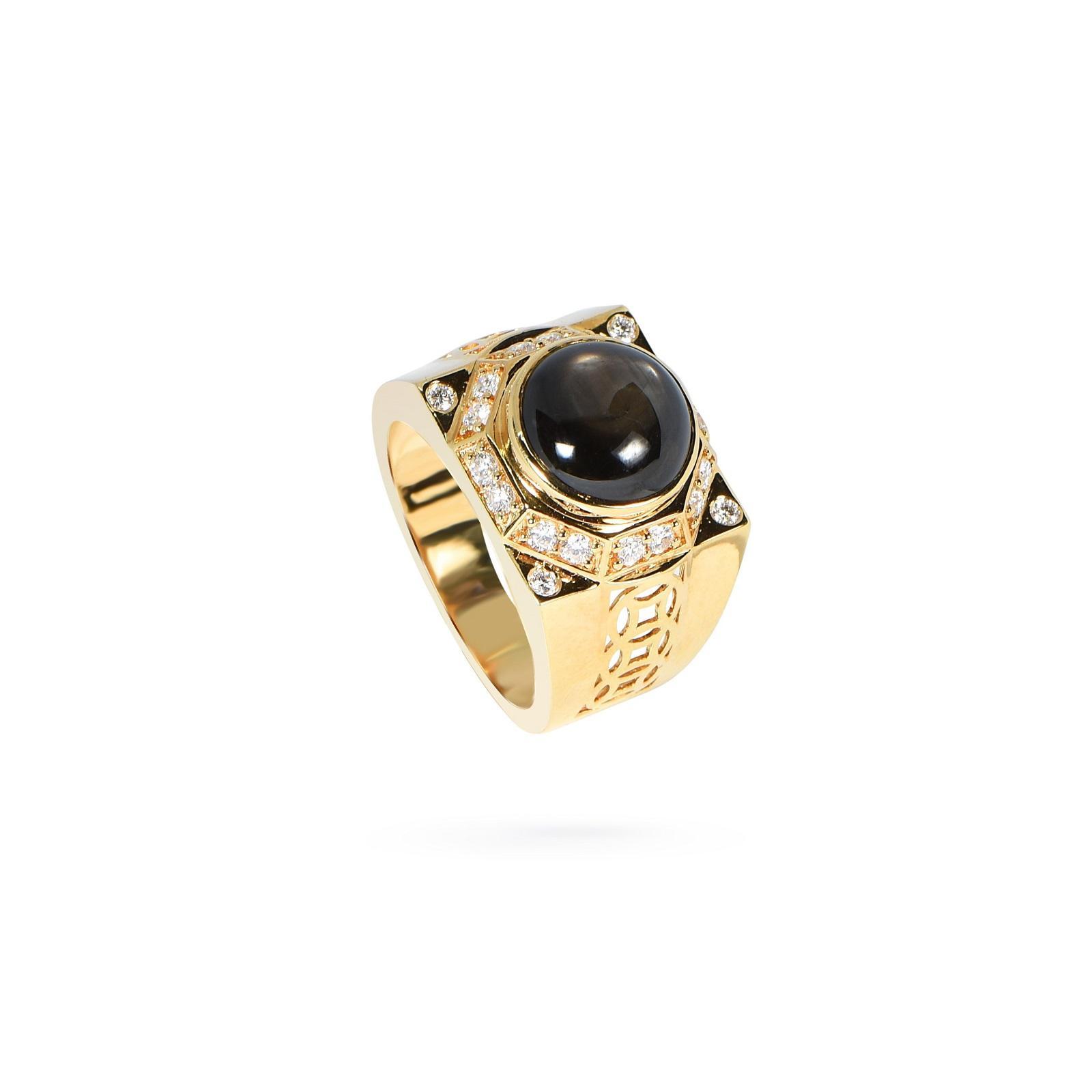 Nhẫn nam đá Sapphire KR0004
