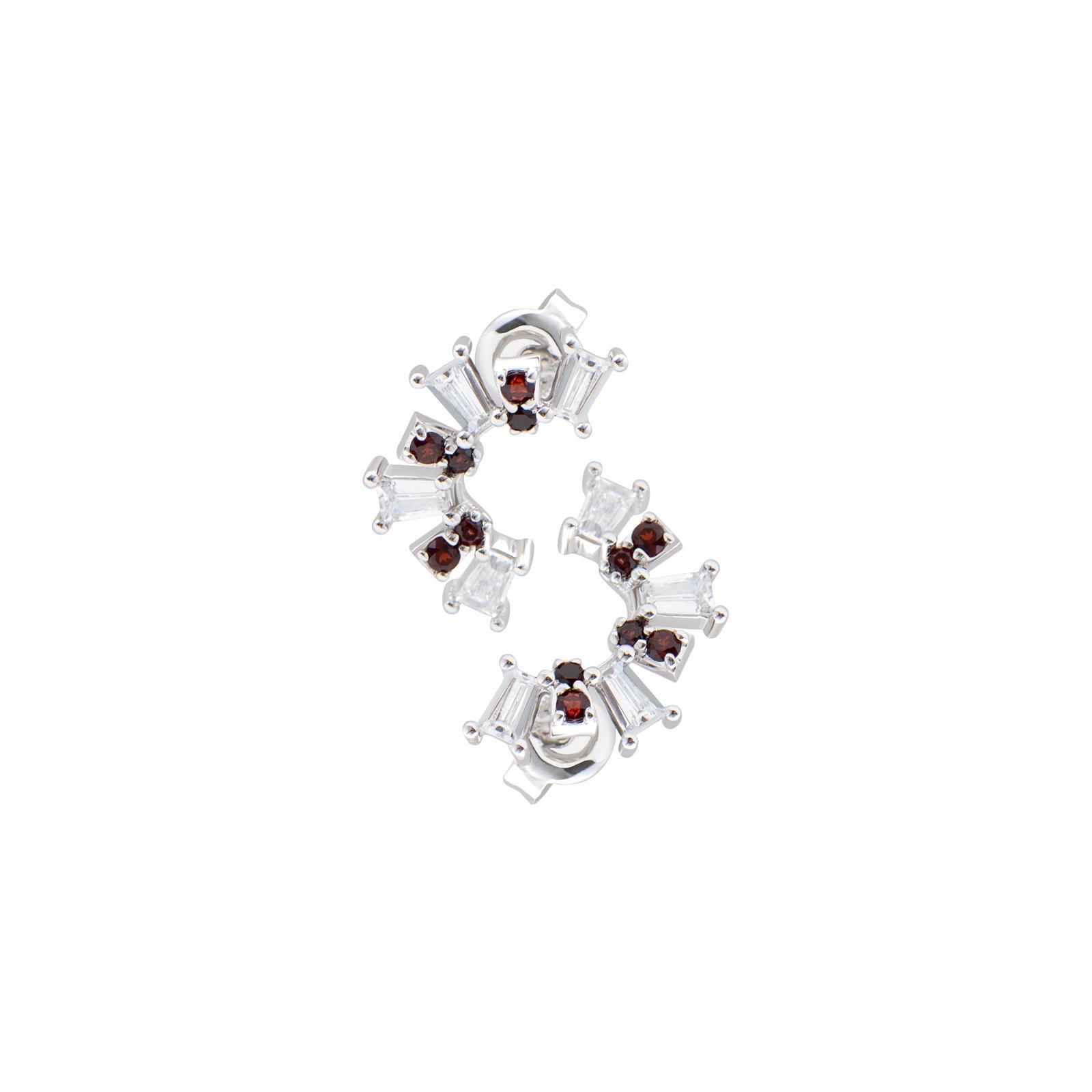Bông tai đá Garnet 21B.009MBL