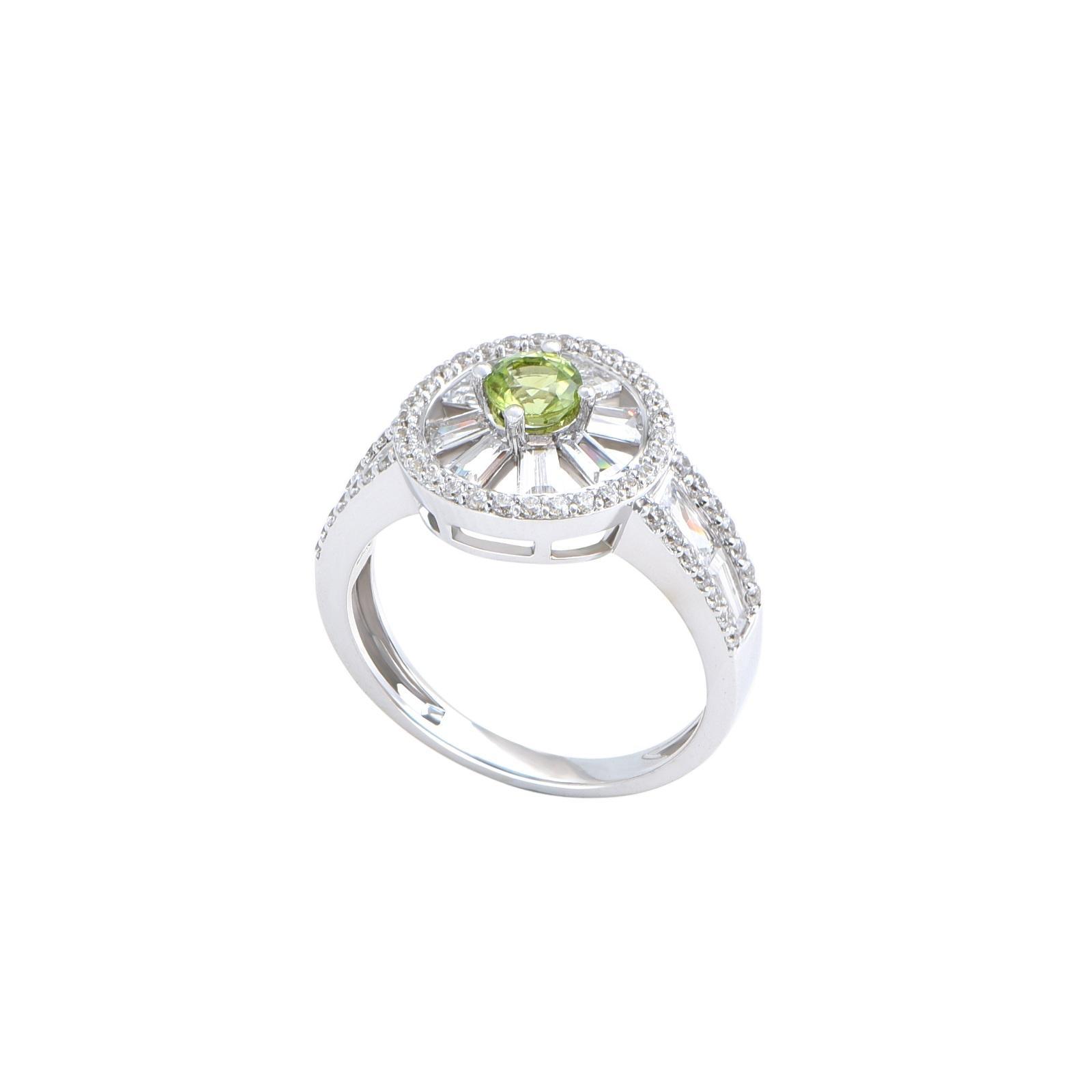 Nhẫn đá Peridot 21N.012NMBL