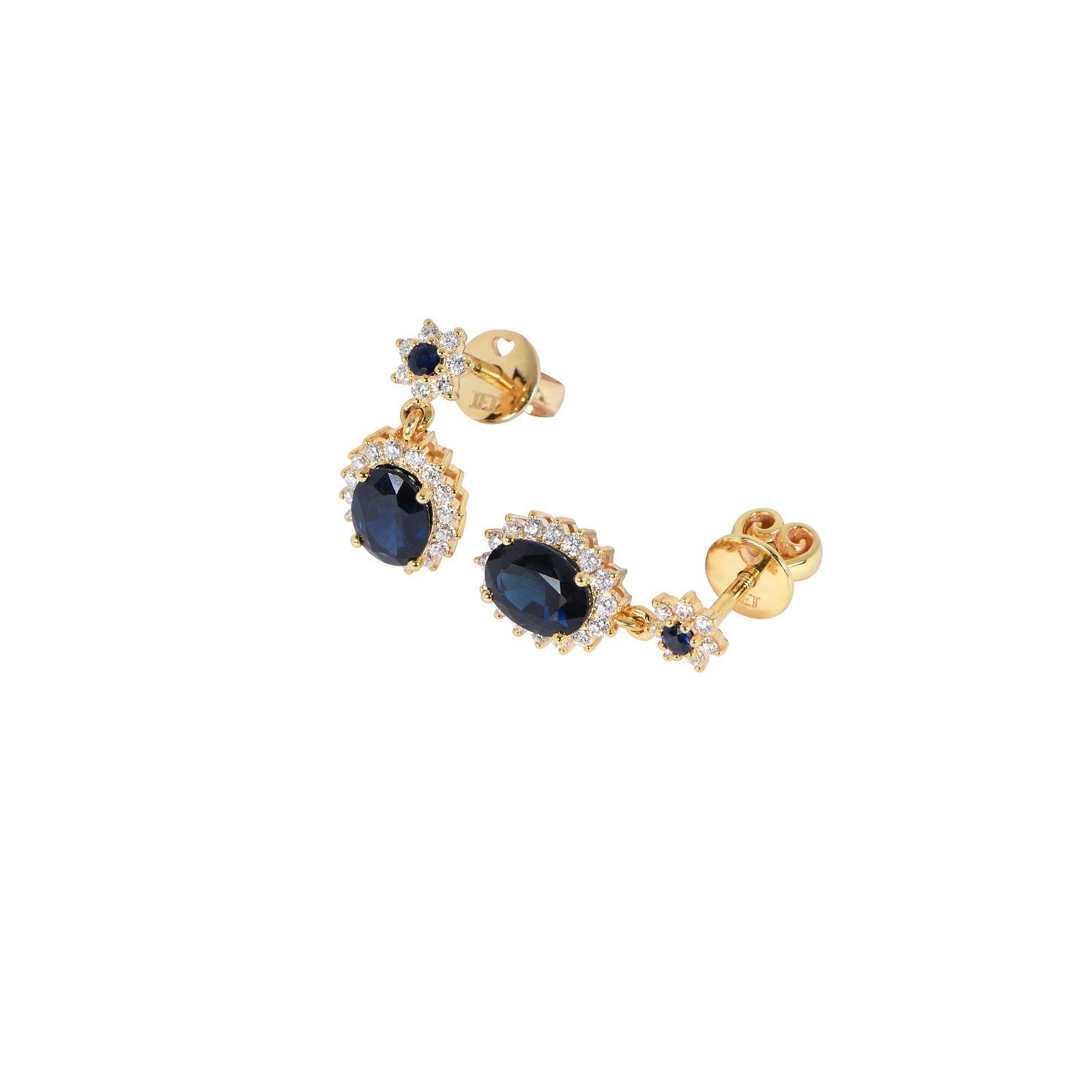 Bông tai đá Sapphire 20B075.1TH