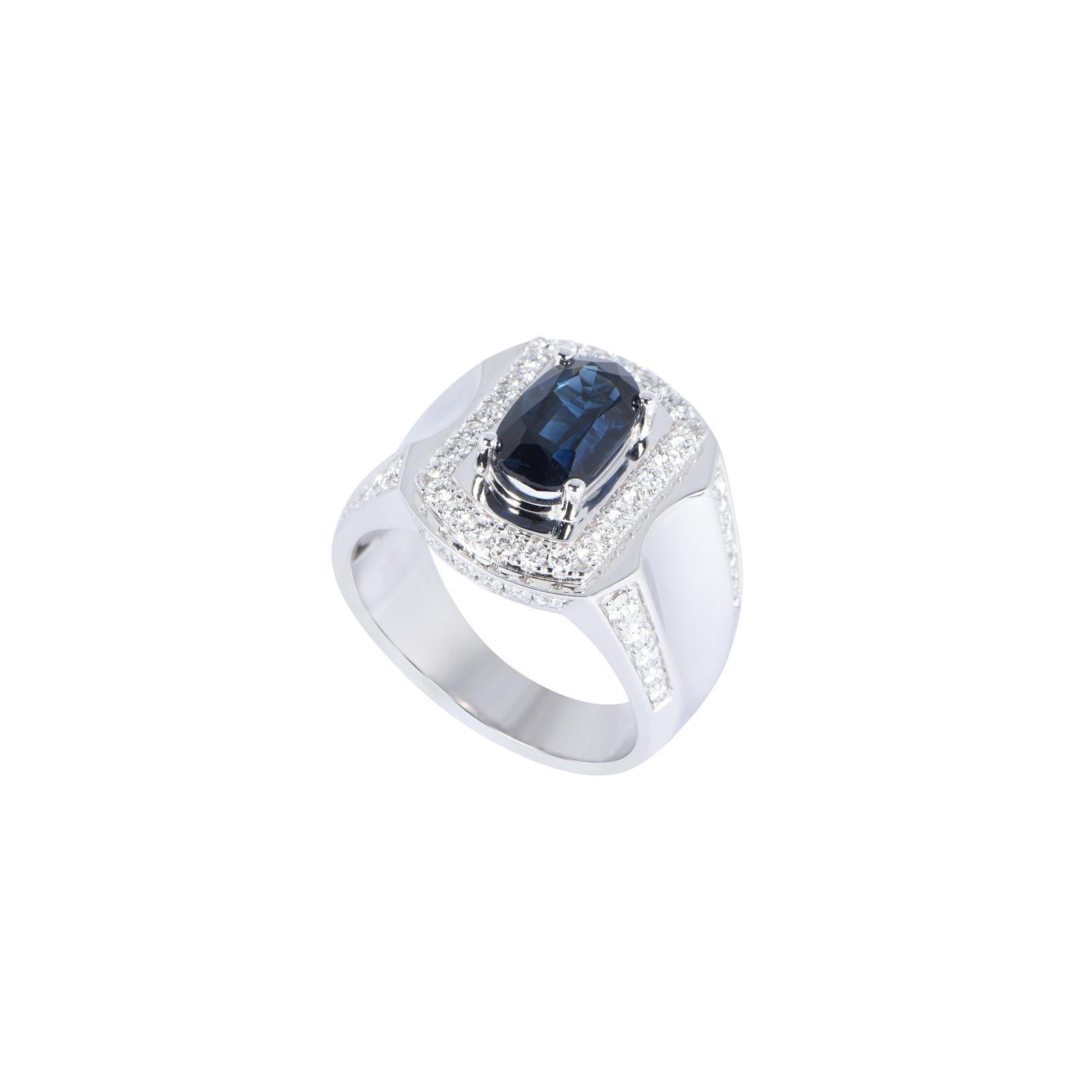 Nhẫn nam đá Sapphire 20NN021.4NA