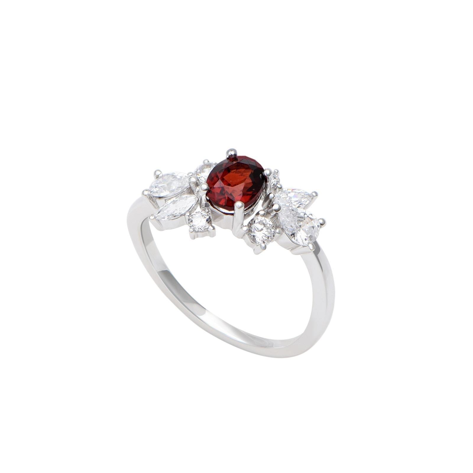 Nhẫn đá Garnet 21N166