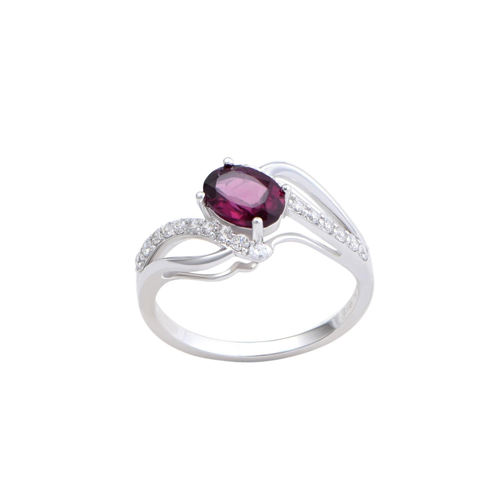 Nhẫn đá Rhodolite 21N089