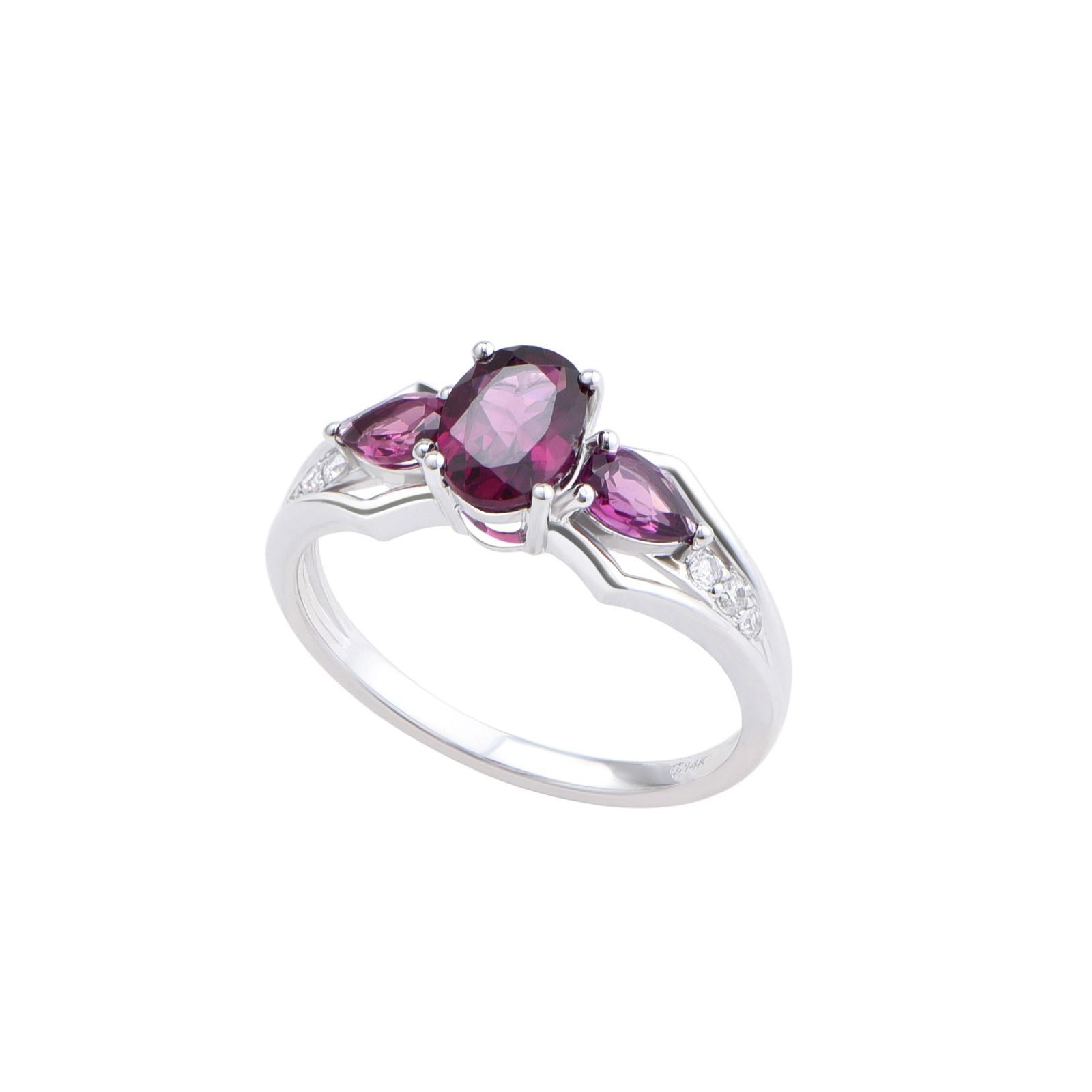 Nhẫn đá Rhodolite 21N090