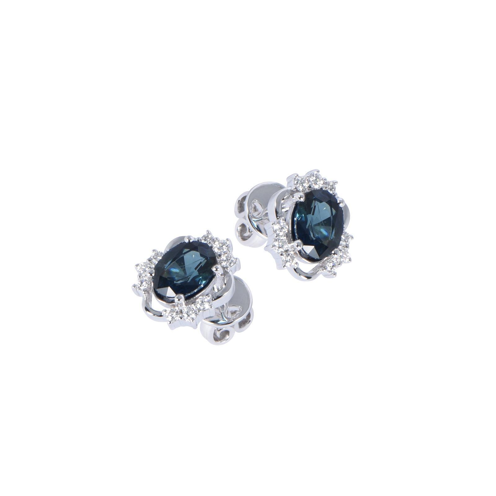 Bông tai đá Sapphire 20B057.6TY