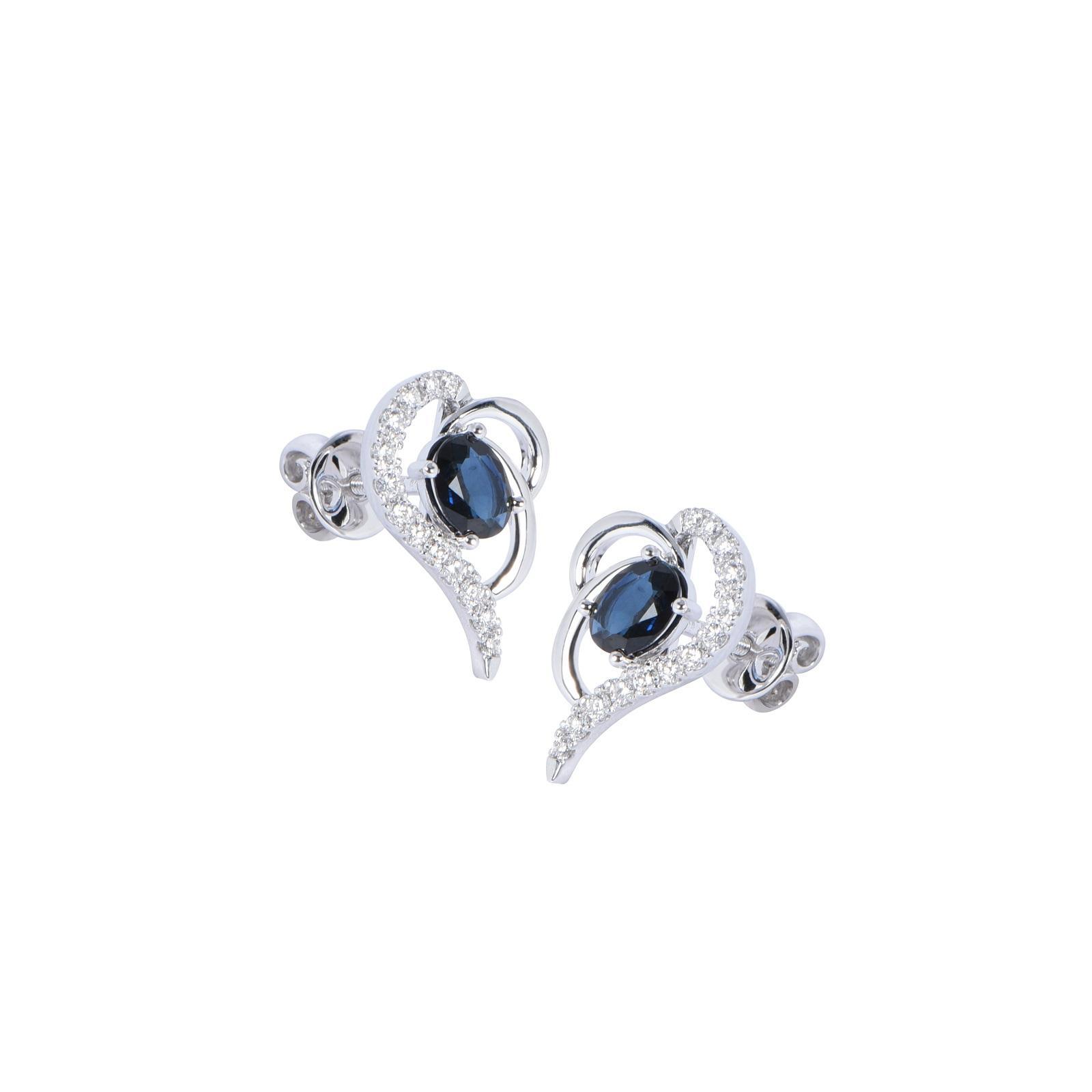 Bông tai đá Sapphire 20B068.4NA