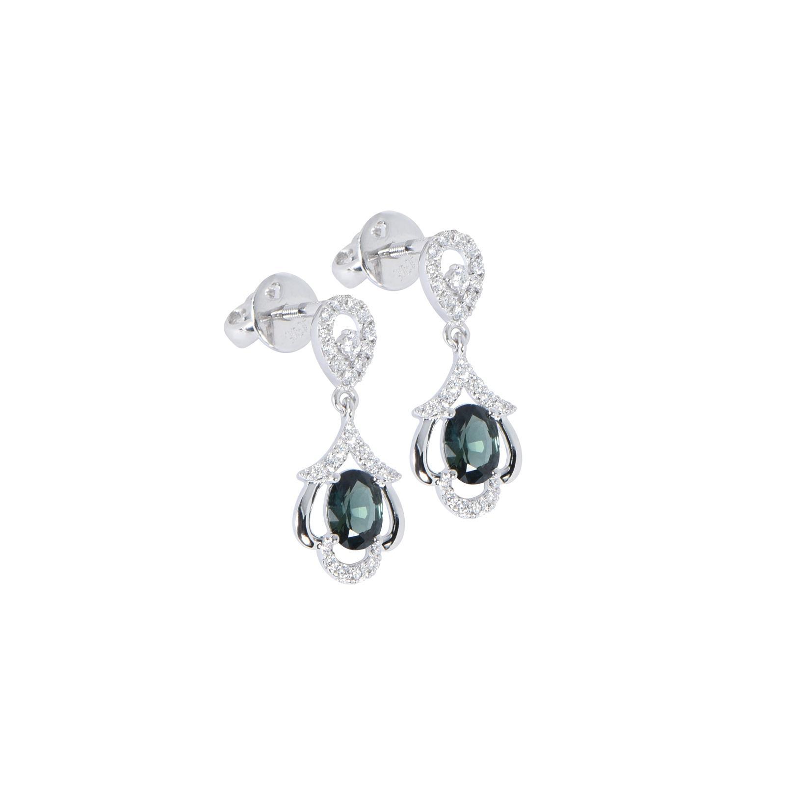 Bông tai đá Sapphire 20B070.6TY