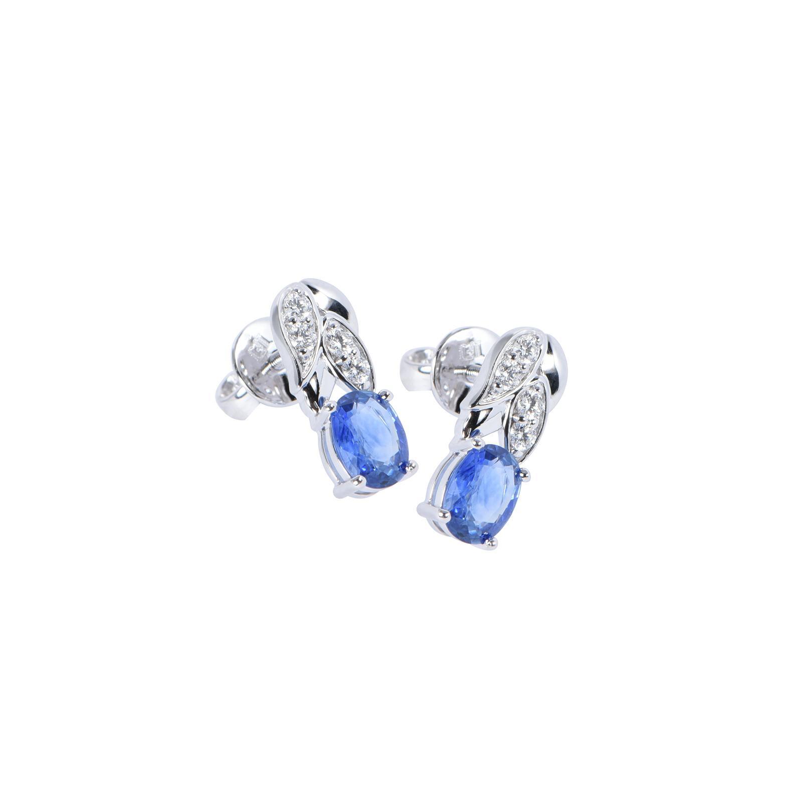 Bông tai đá Sapphire 20B073.4NA