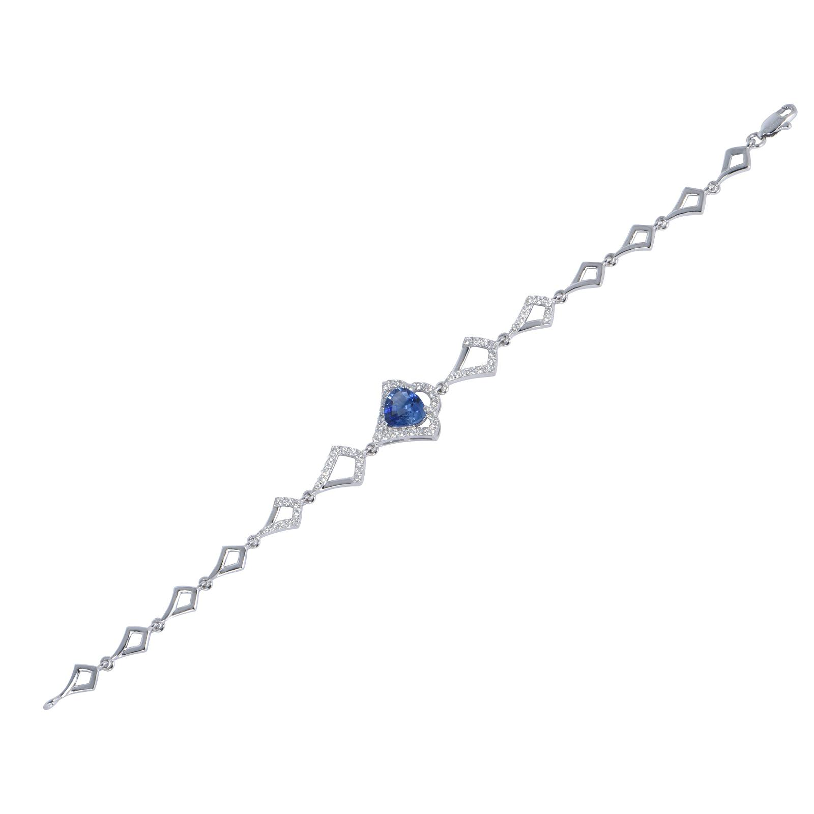Lắc tay đá Sapphire 20L072.6TY