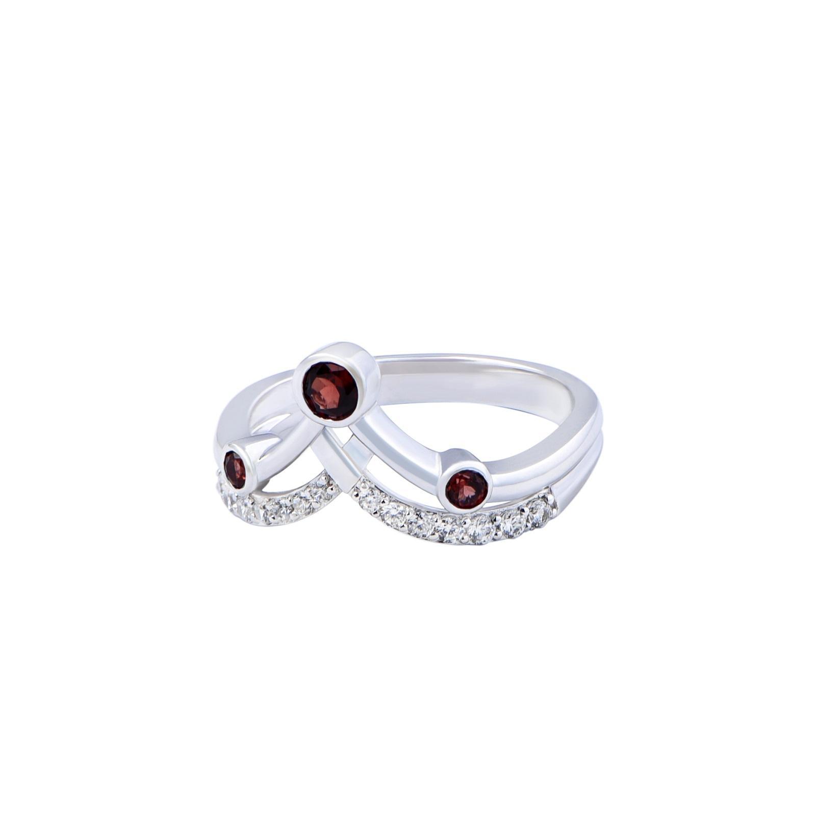 Nhẫn đá Garnet 21N084