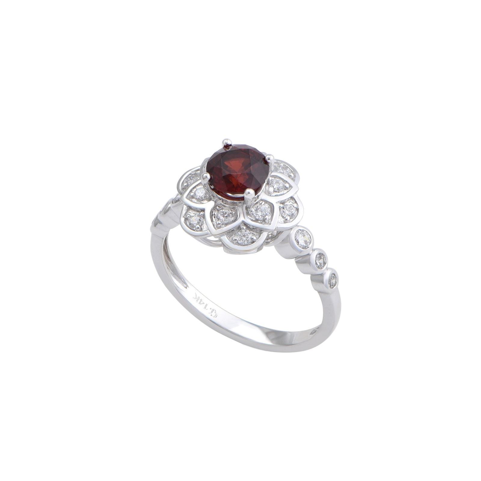 Nhẫn đá Garnet 21N094