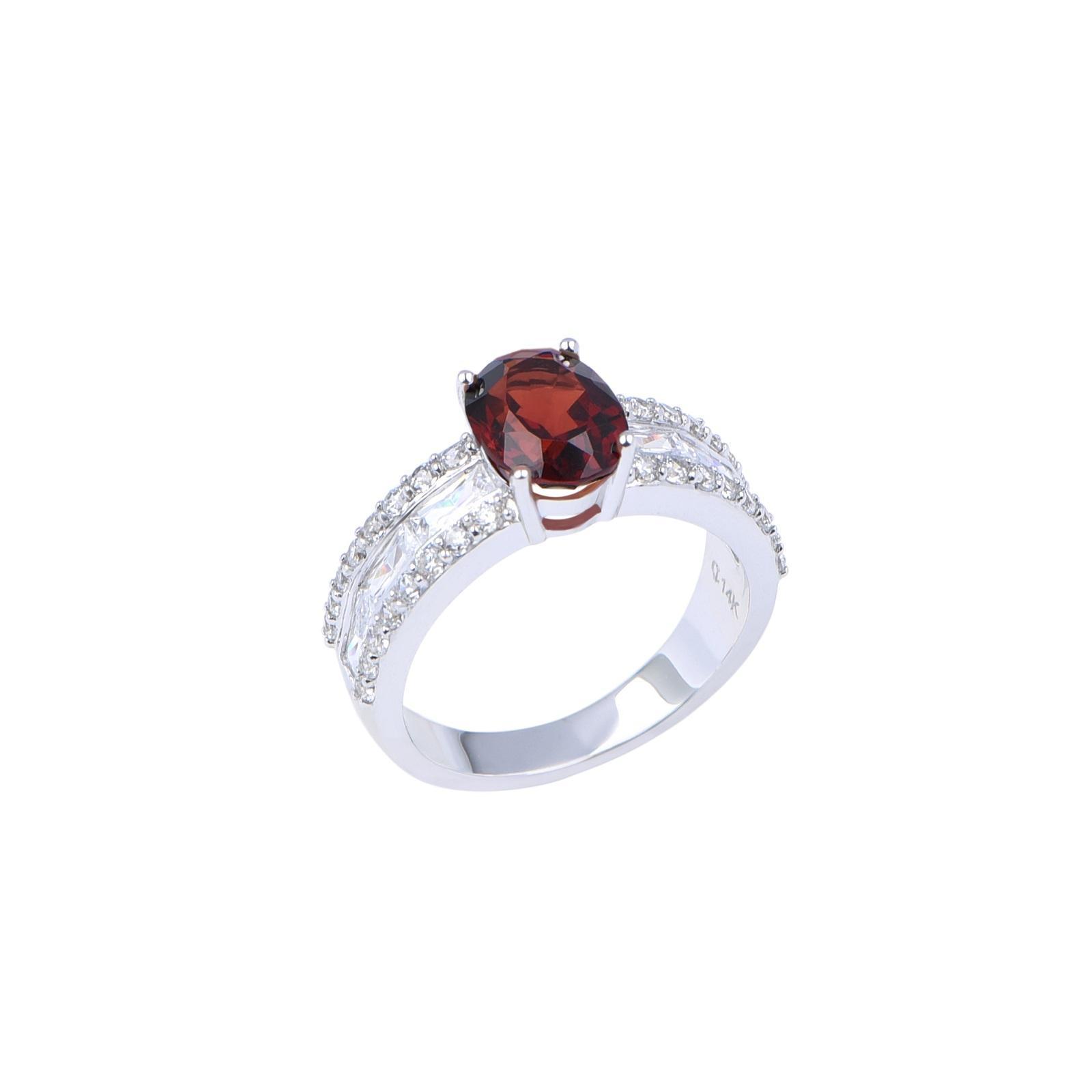 Nhẫn đá Garnet 21NN073