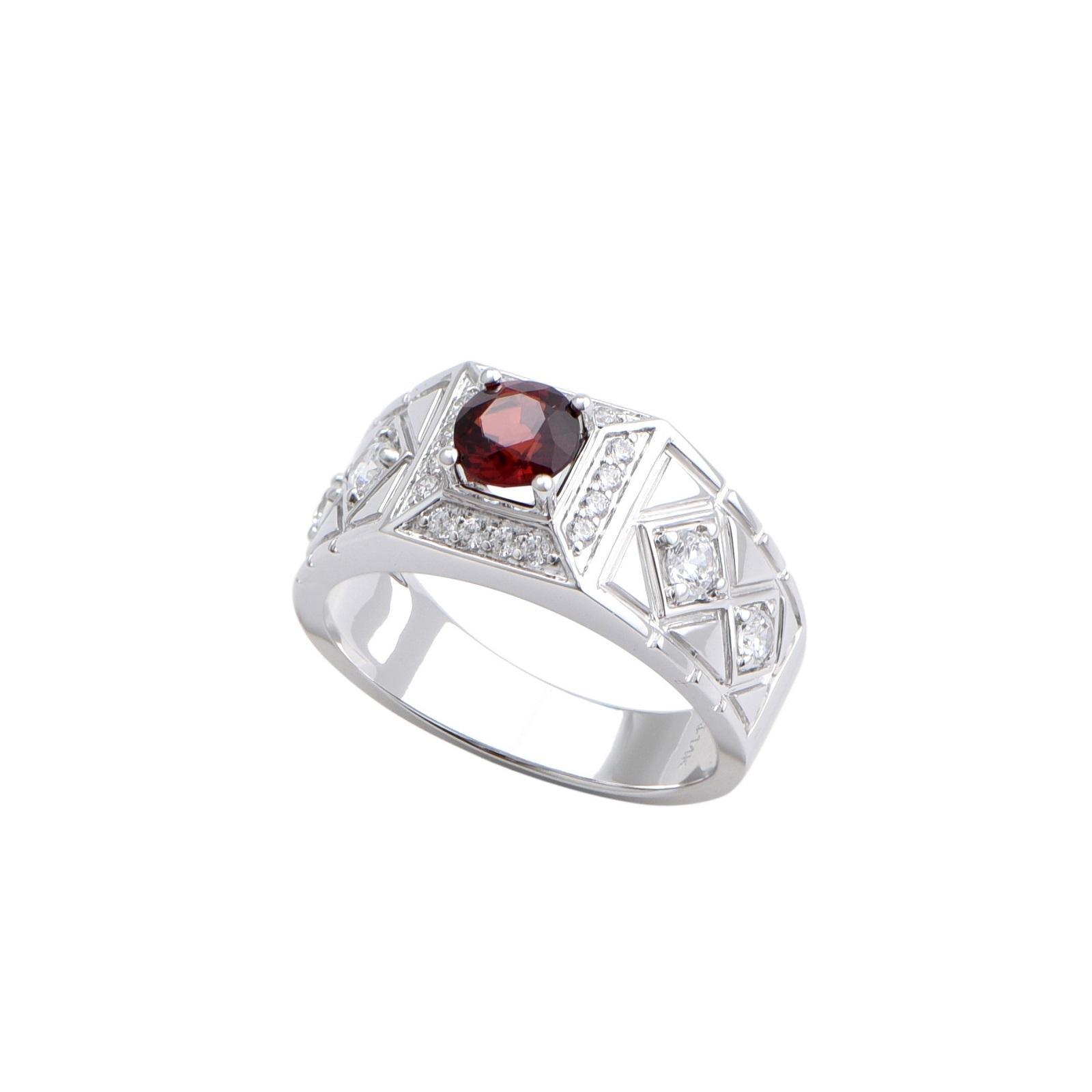 Nhẫn nam đá Garnet 21NN058