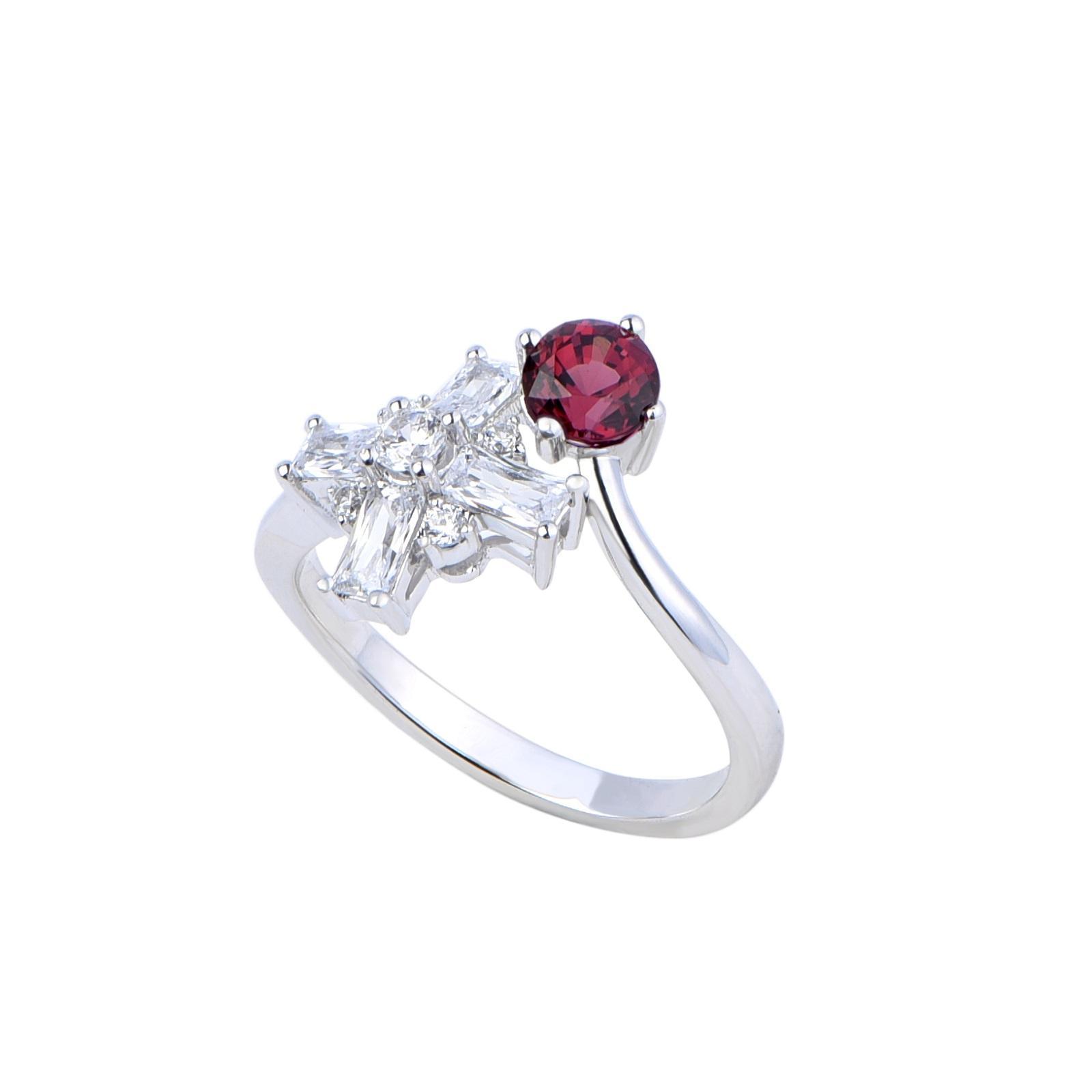 Nhẫn đá Garnet 21N085